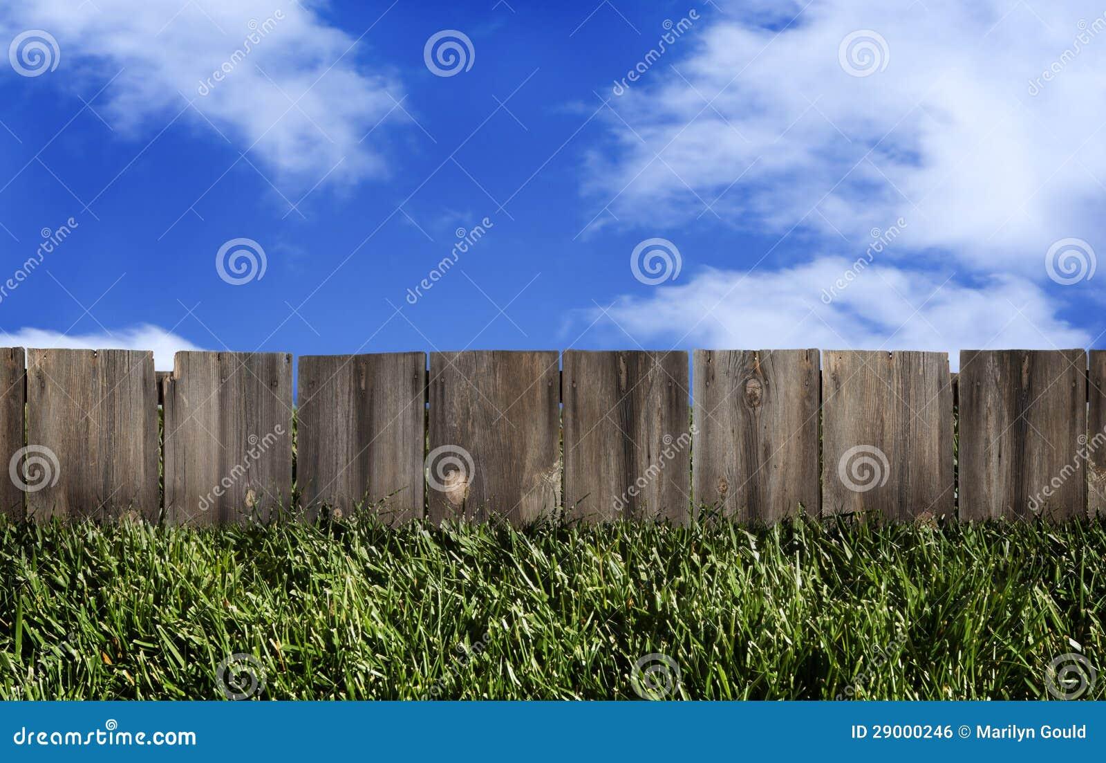 De houten Blauwe Hemel van de Omheining