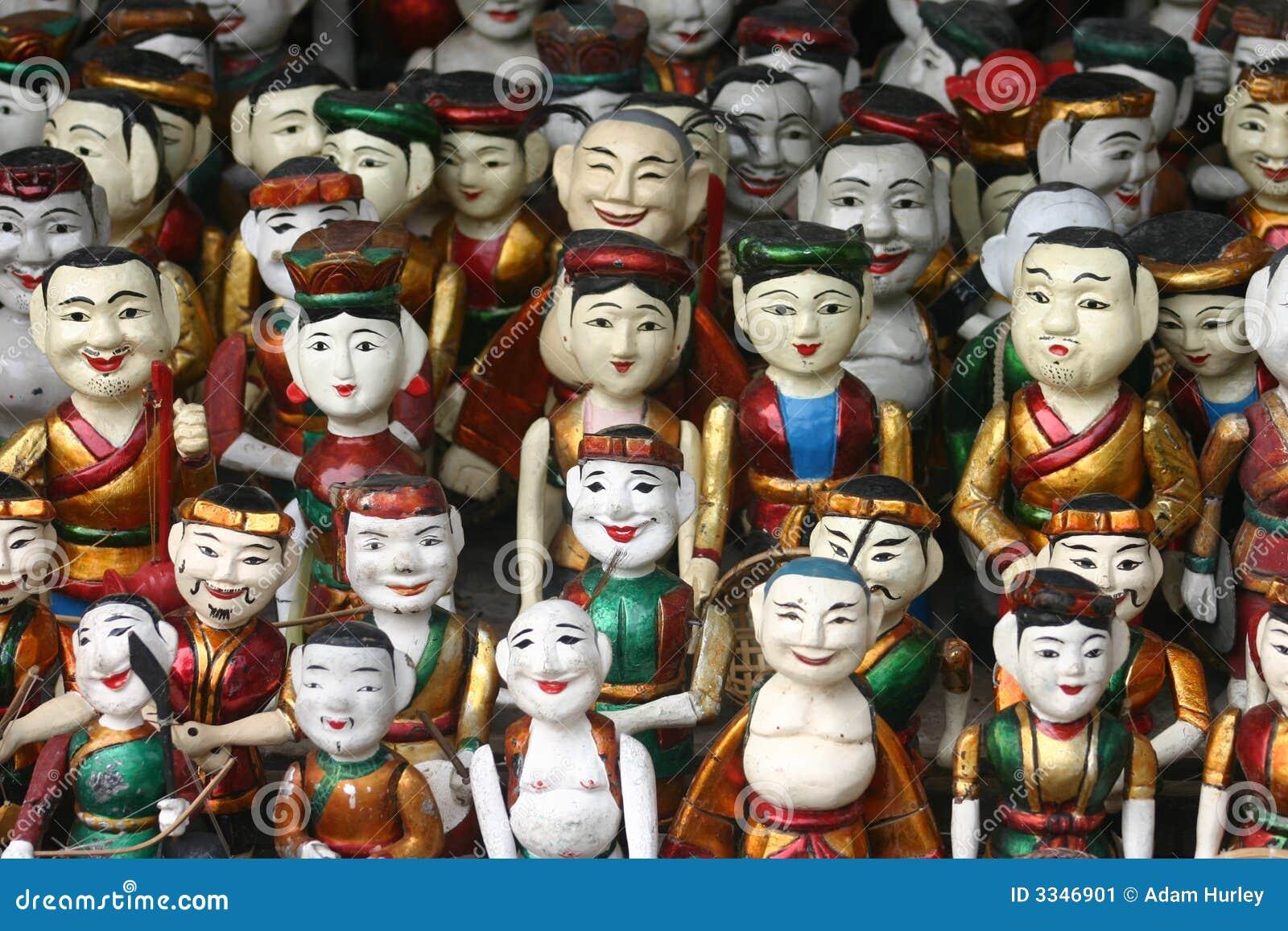 De houten Marionetten van het Water
