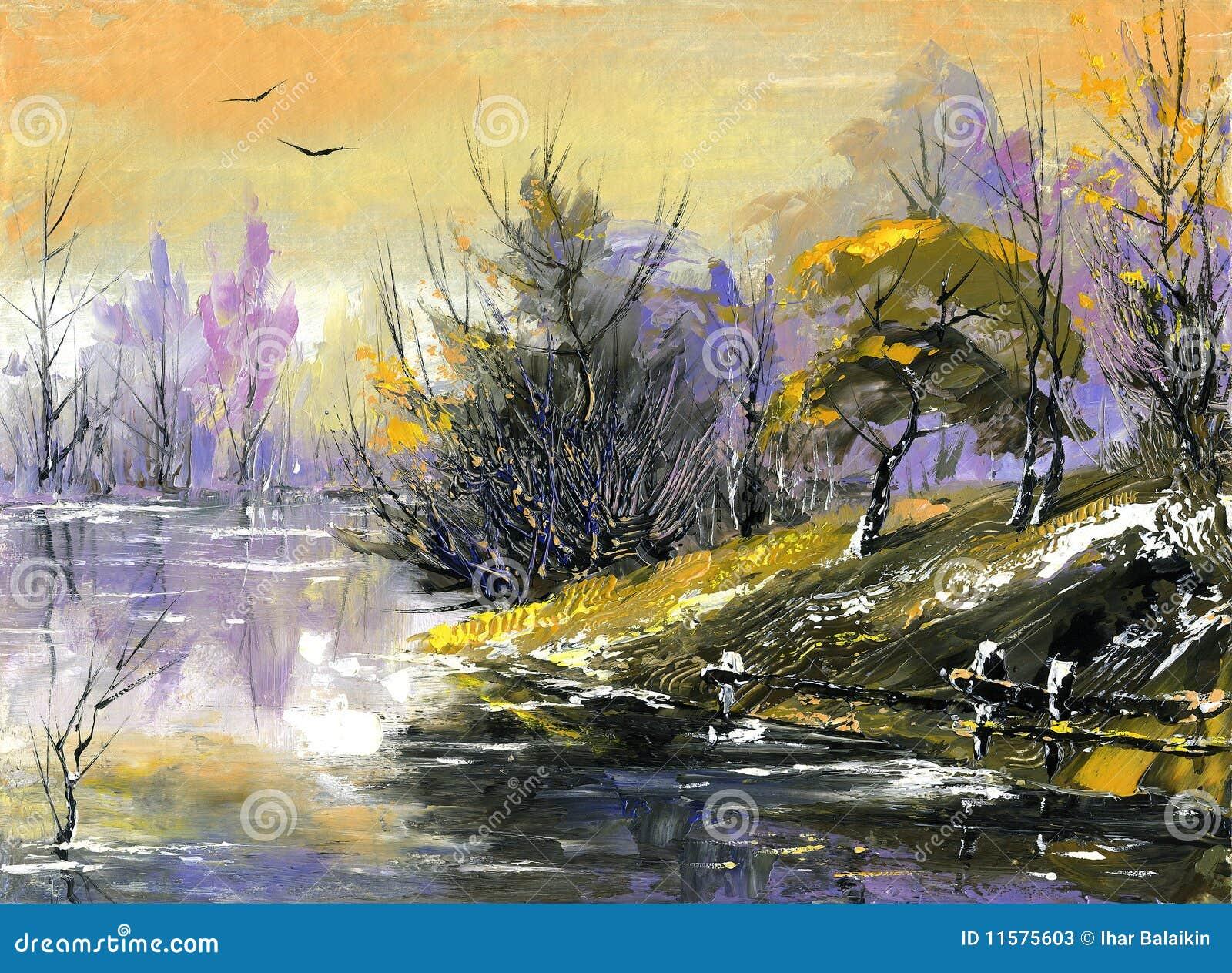 De houten rivier op een daling