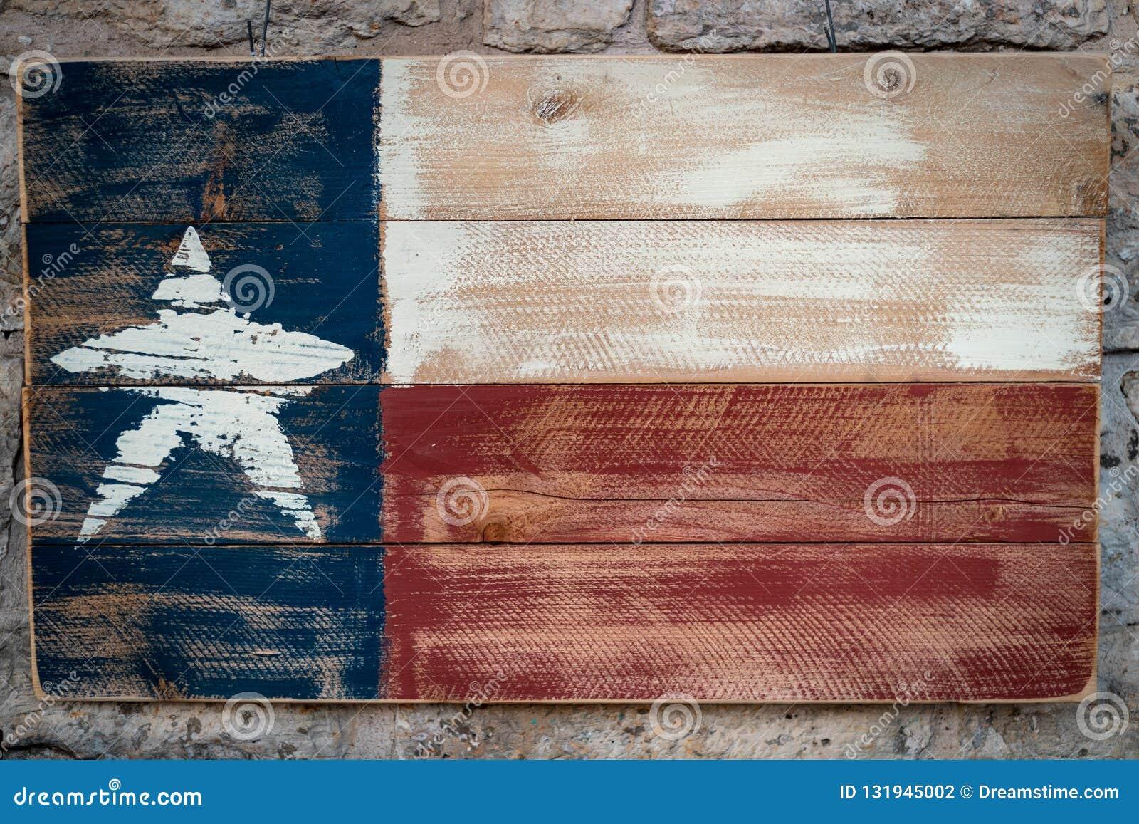 De houten vlag van Texas