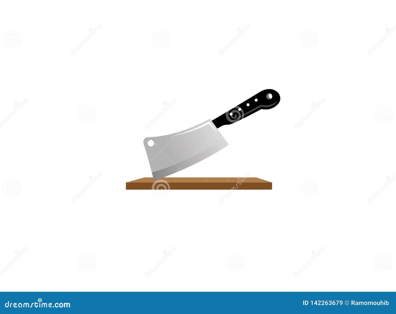 De houthakkersbijl plakte op de lijst een keukenhulpmiddel voor embleem