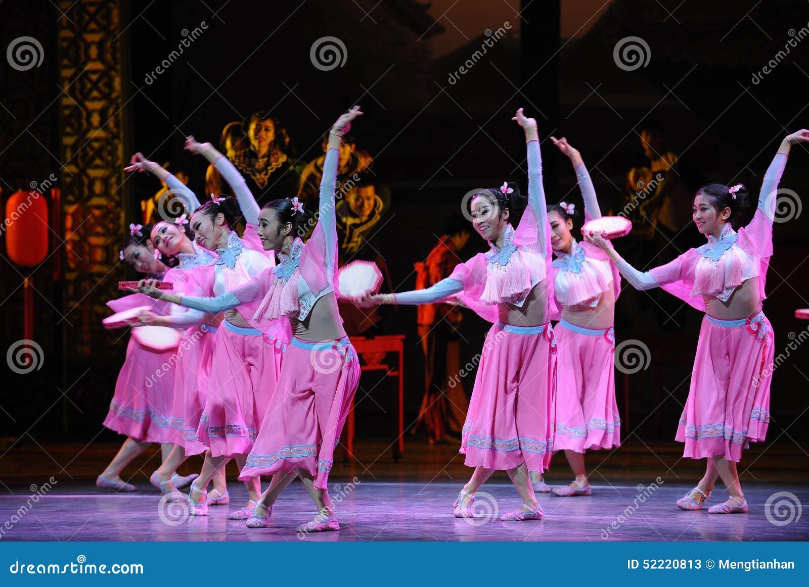 De Hu Feng da dança- do rosa da empregada doméstica- ato primeiramente de eventos do drama-Shawan da dança do passado