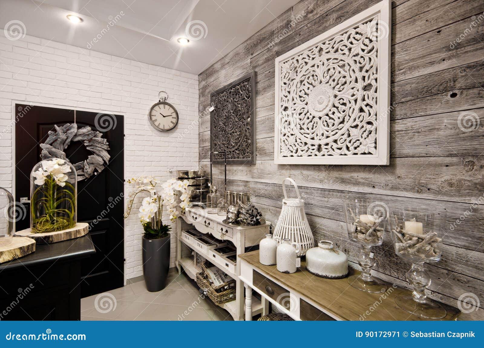 De Huisdecoratie Winkelen Binnenland Stock Afbeelding Image Of Beige Decor 90172971