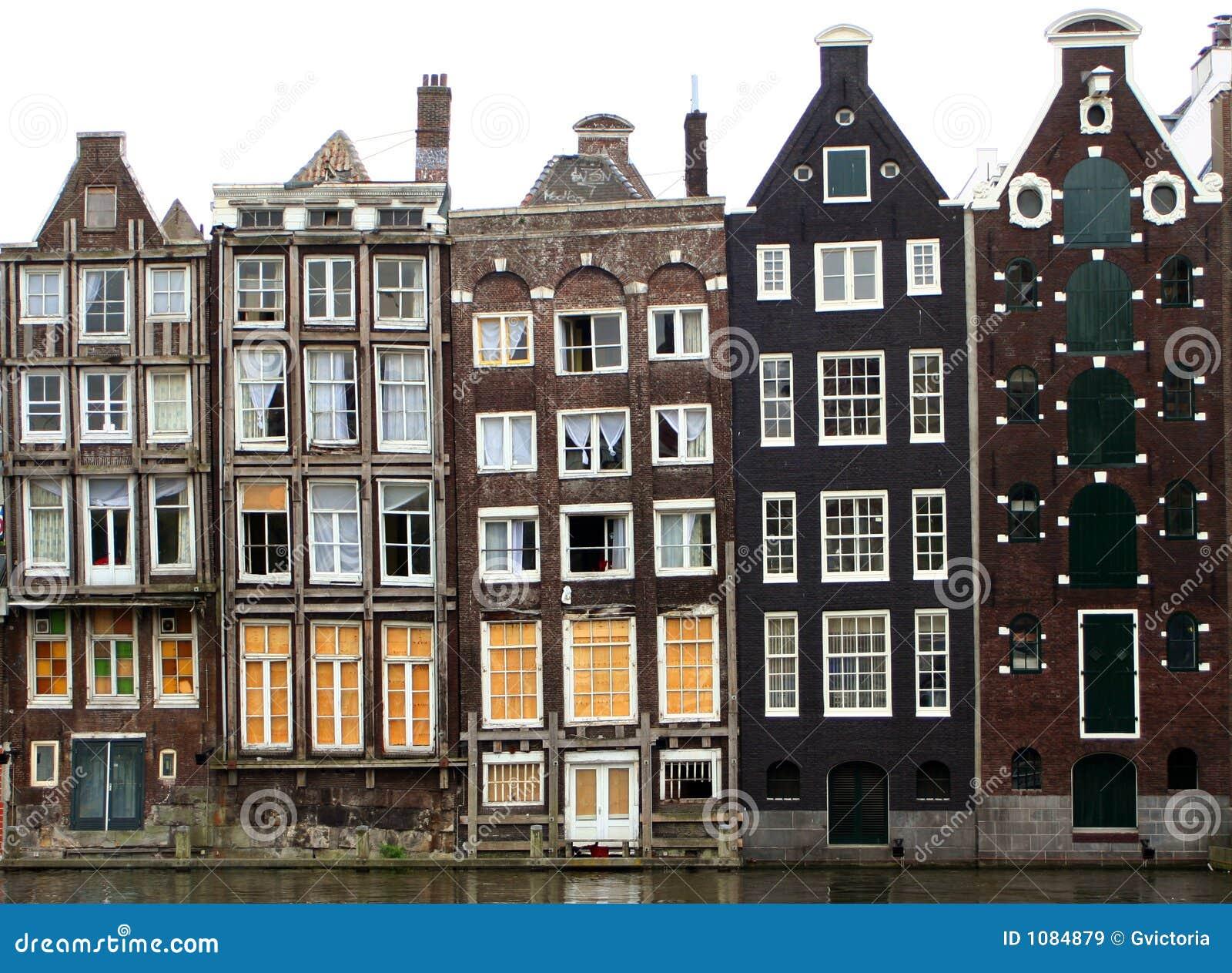 de huizen van amsterdam stock afbeelding afbeelding bestaande uit huizen 1084879