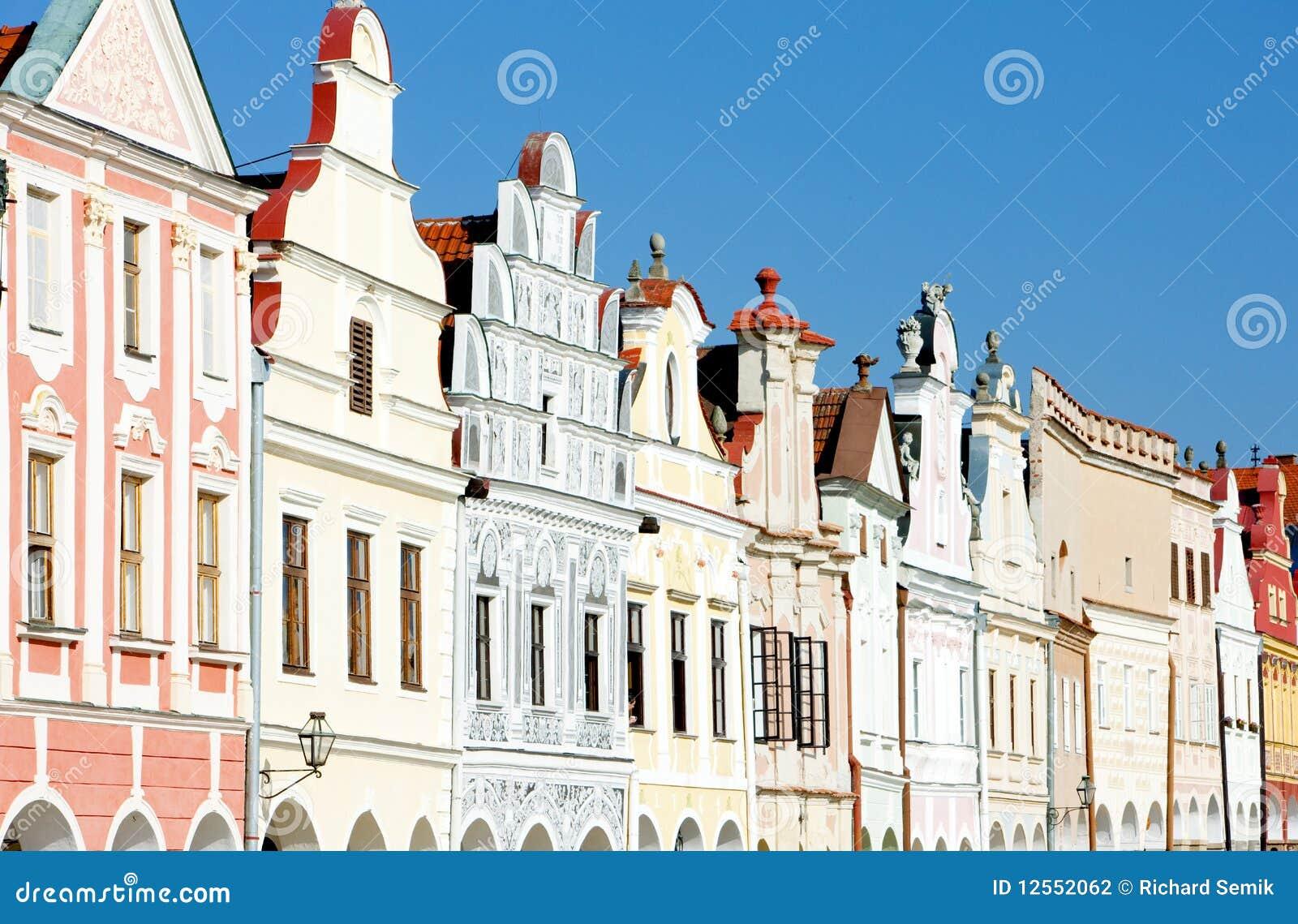 De huizen van de renaissance in telc stock foto afbeelding 12552062 - Huizen van de wereldbank ...