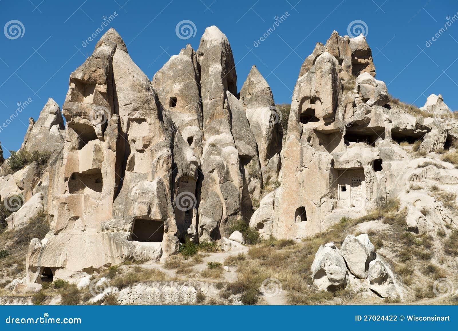 De Huizen van de Schoorsteen van de fee, Reis aan Cappadocia, Turkije