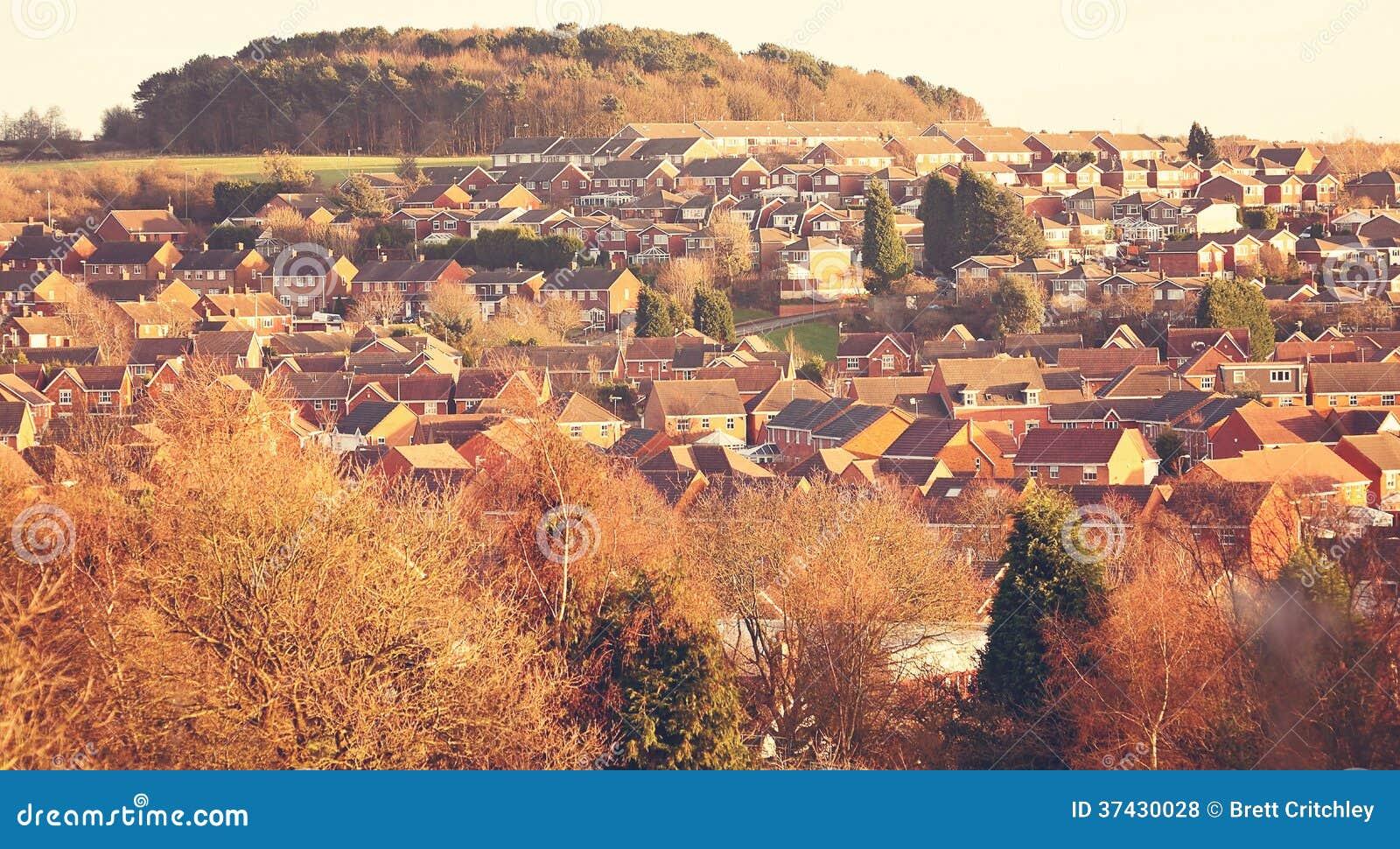 De huizen van de urbanisatiehuisvesting