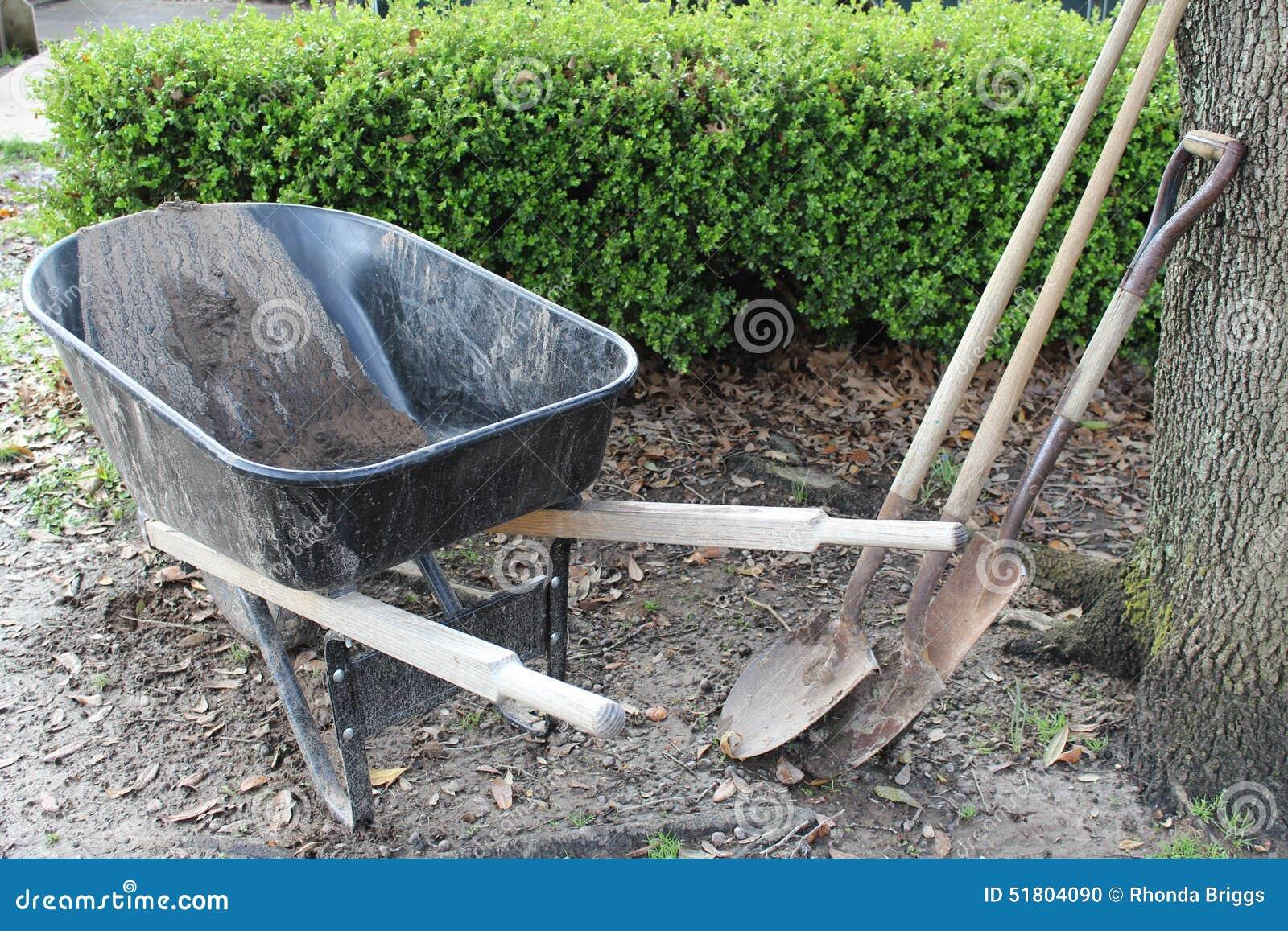 De hulpmiddelen van de tuin