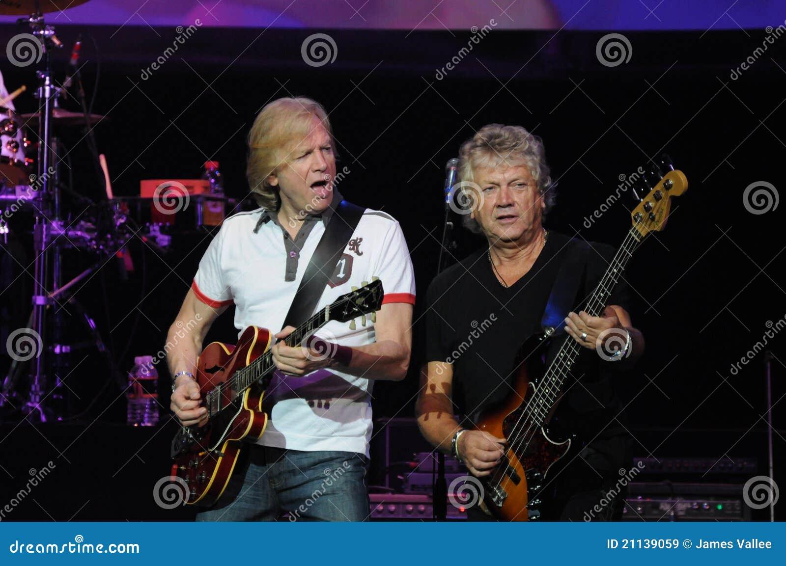 De humeurige Blauw Justin Hayward en John Lodge
