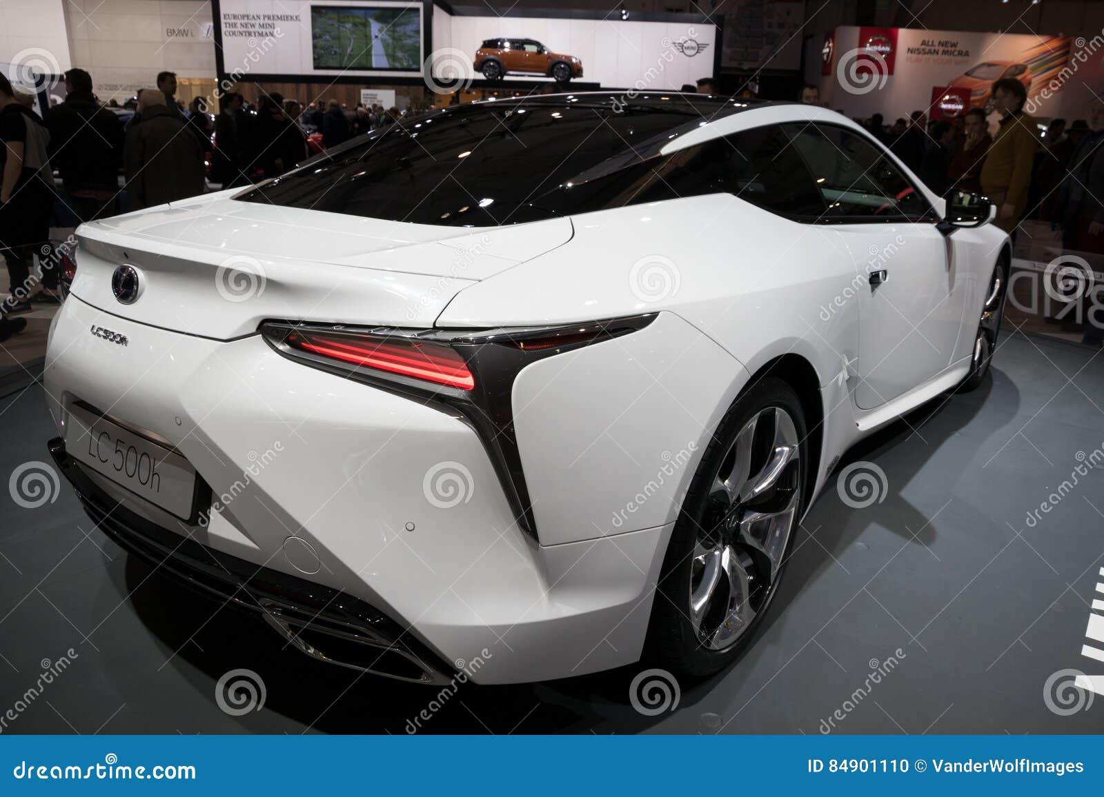 De Hybride Auto Van Lexus Lc500h Redactionele Afbeelding
