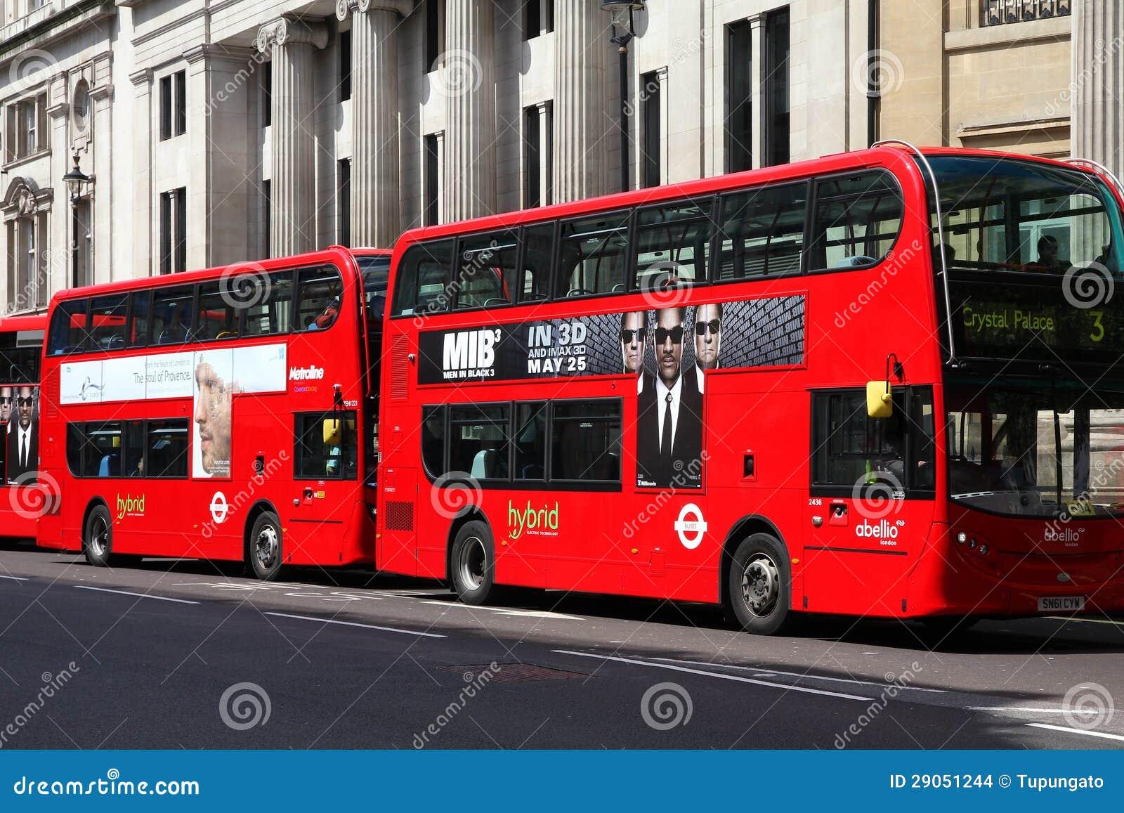 De hybride bussen van Londen