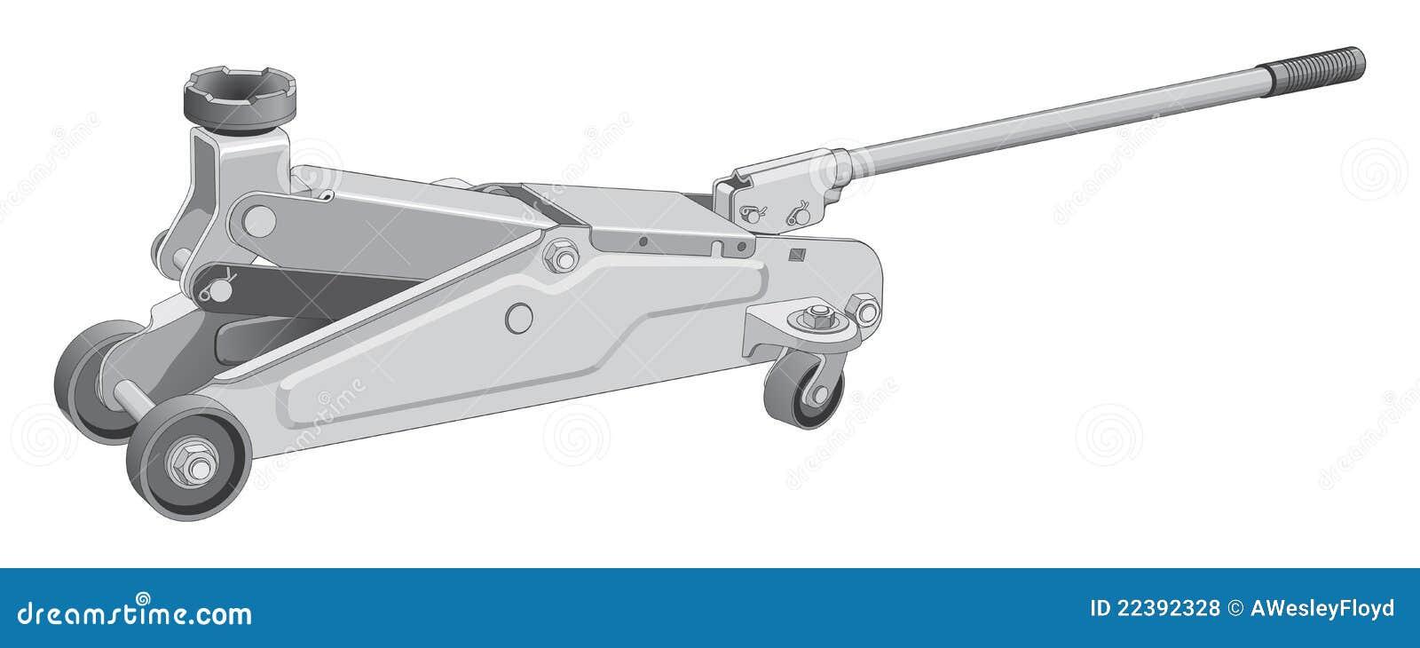 de hydraulische hefboom van de auto vector illustratie afbeelding 22392328. Black Bedroom Furniture Sets. Home Design Ideas