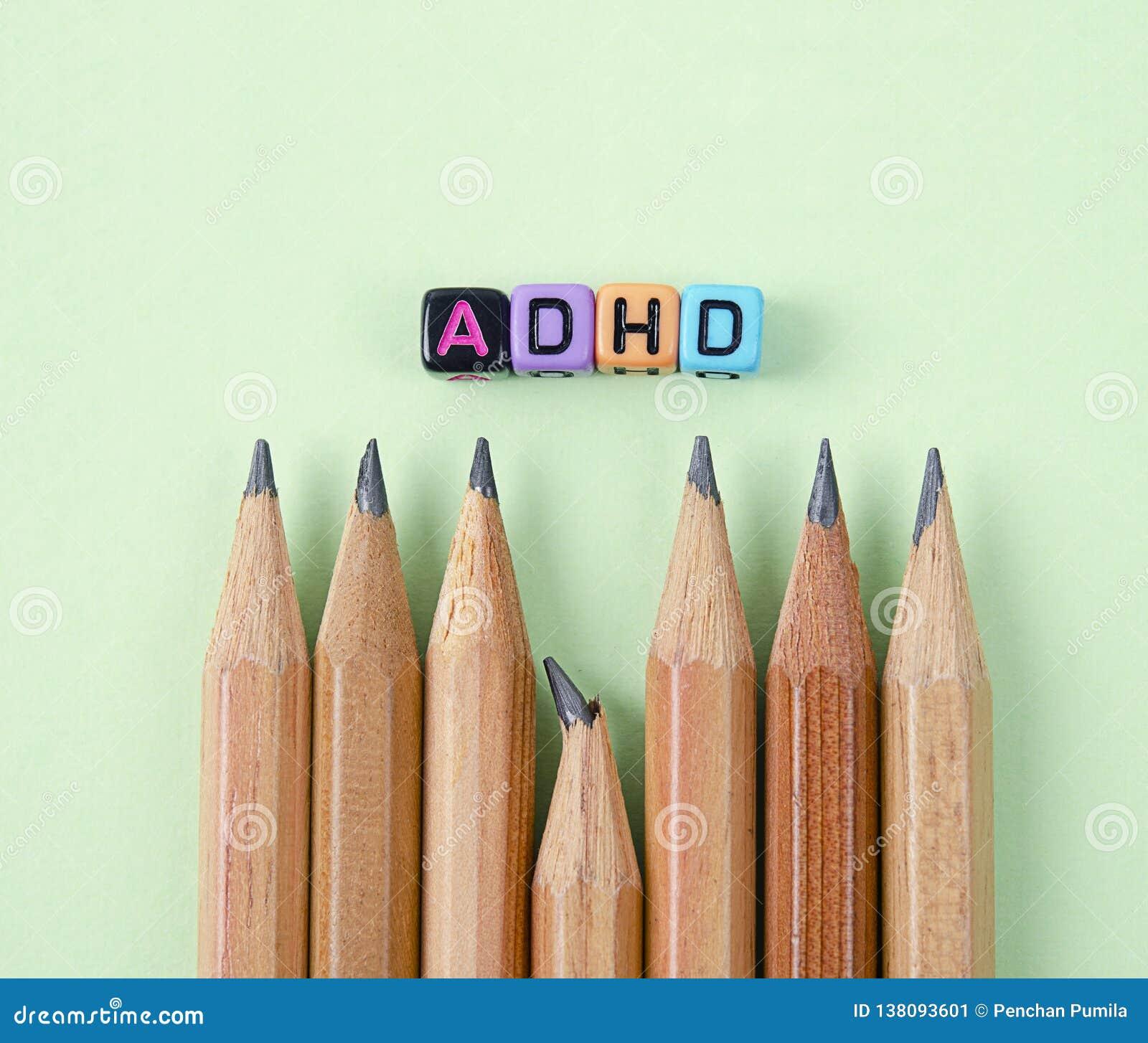De Hyperactiviteitwanorde van het aandachtstekort of ADHD-concept