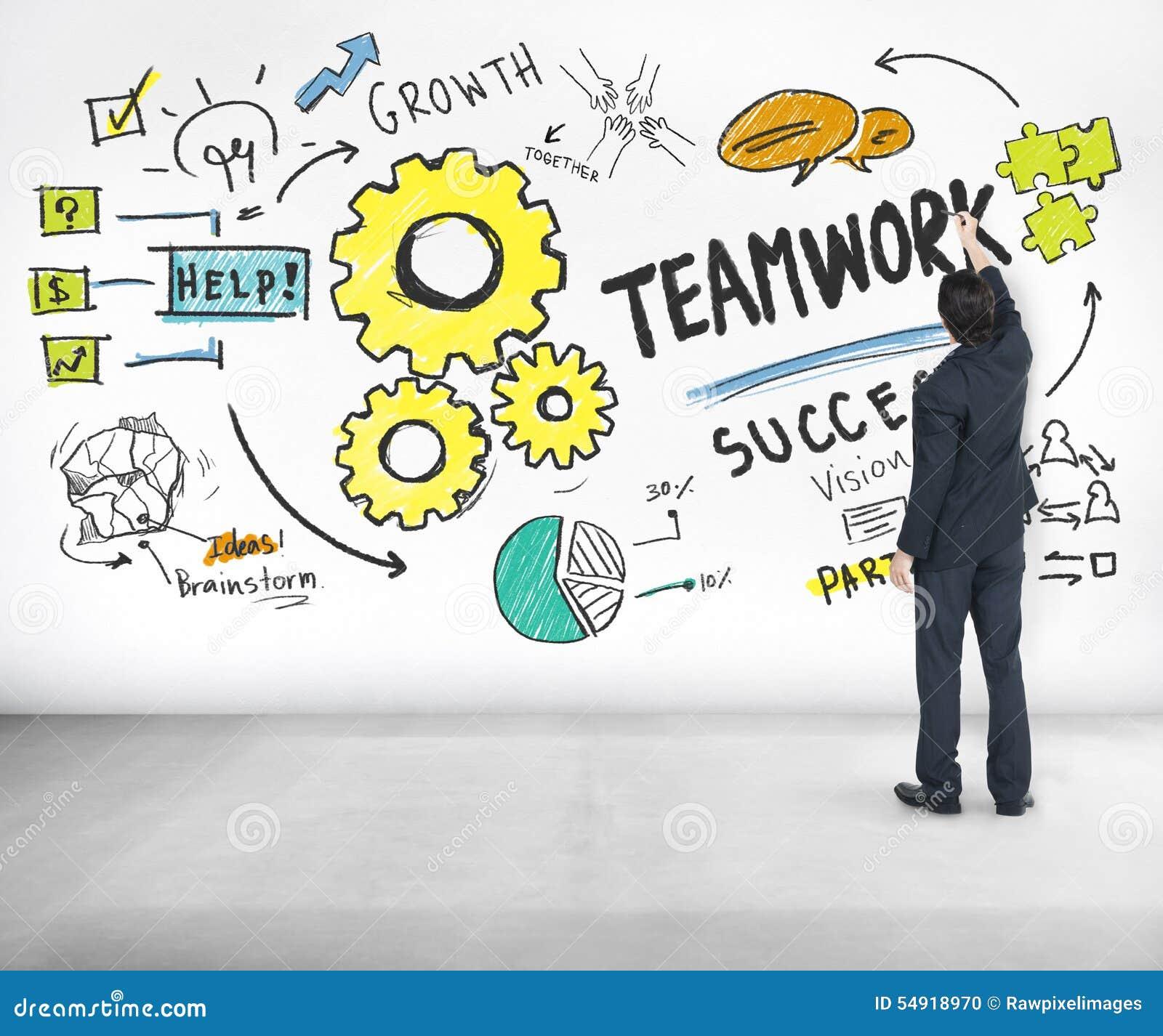 De Ideeën C van groepswerkteam together collaboration businessman writing