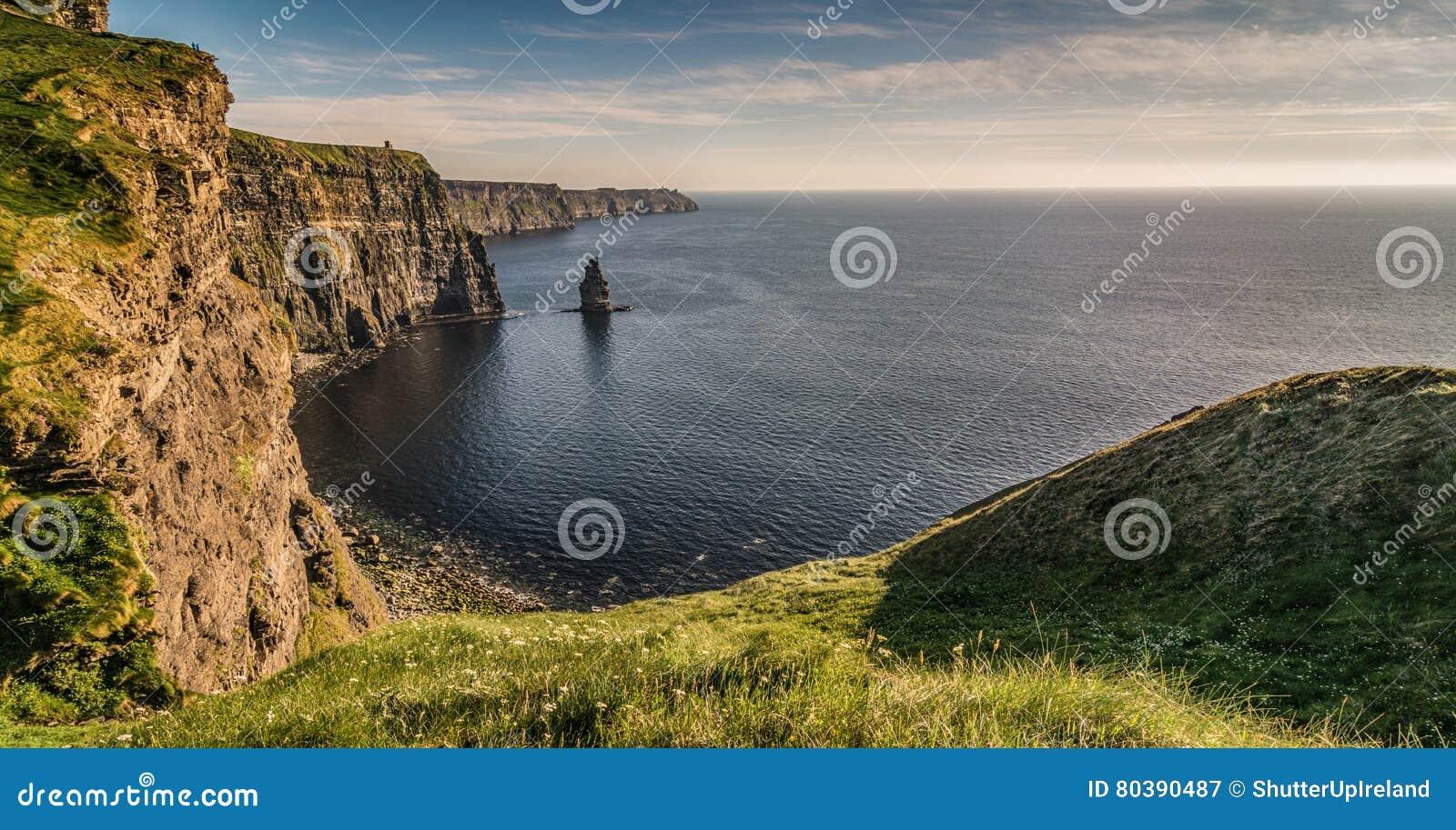 De Ierse wereldberoemde toeristische attractie van Ierland in Provincie Clare De Klippen van Moher-Westkust van Ierland Episch Ie
