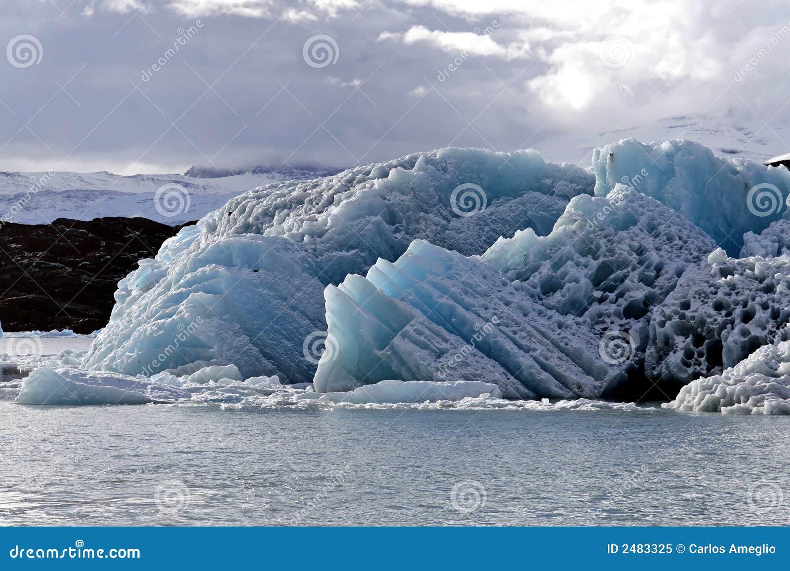 De ijsschol van het ijs