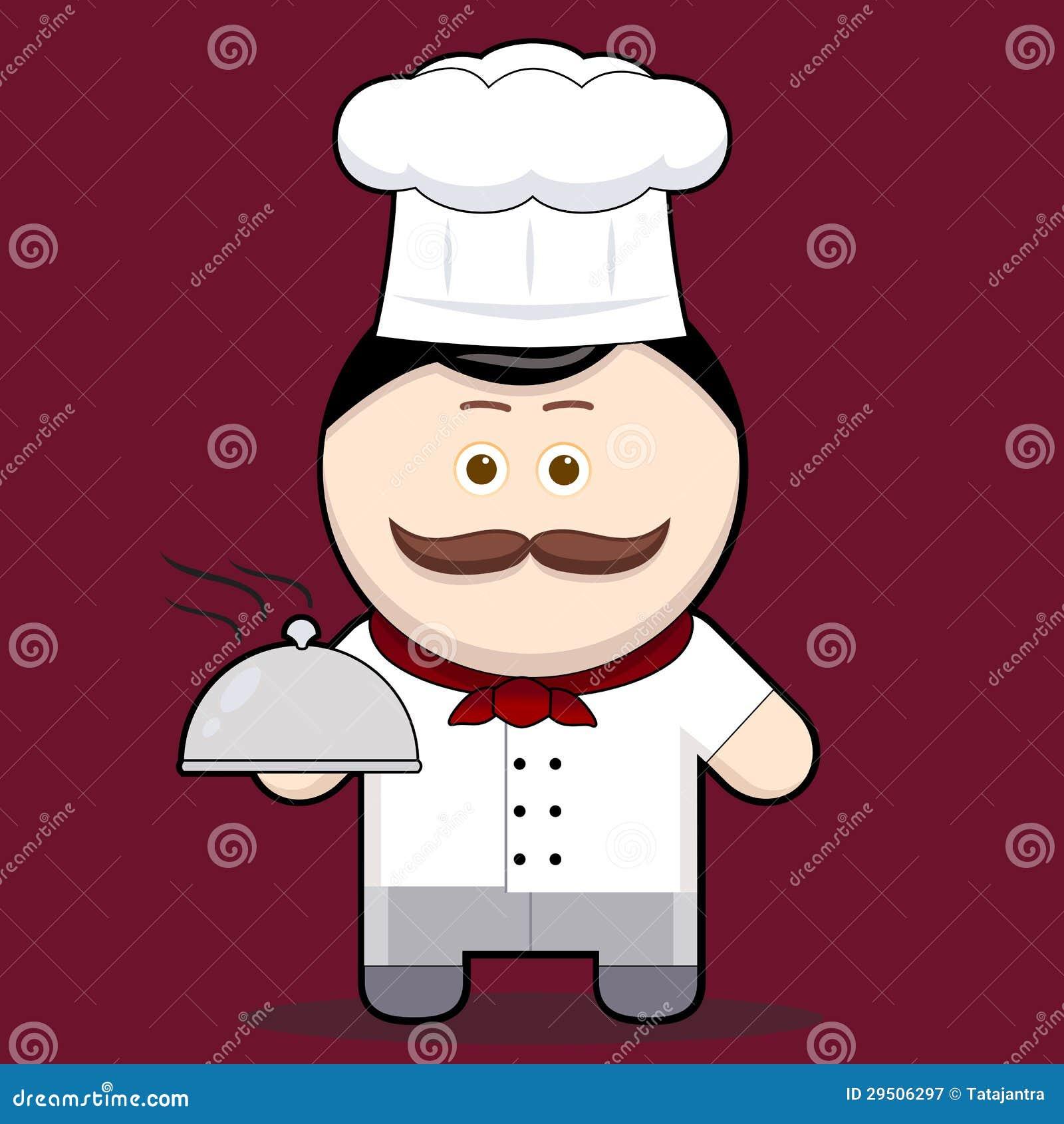 De illustratie leuke chef-kok van het beeldverhaal