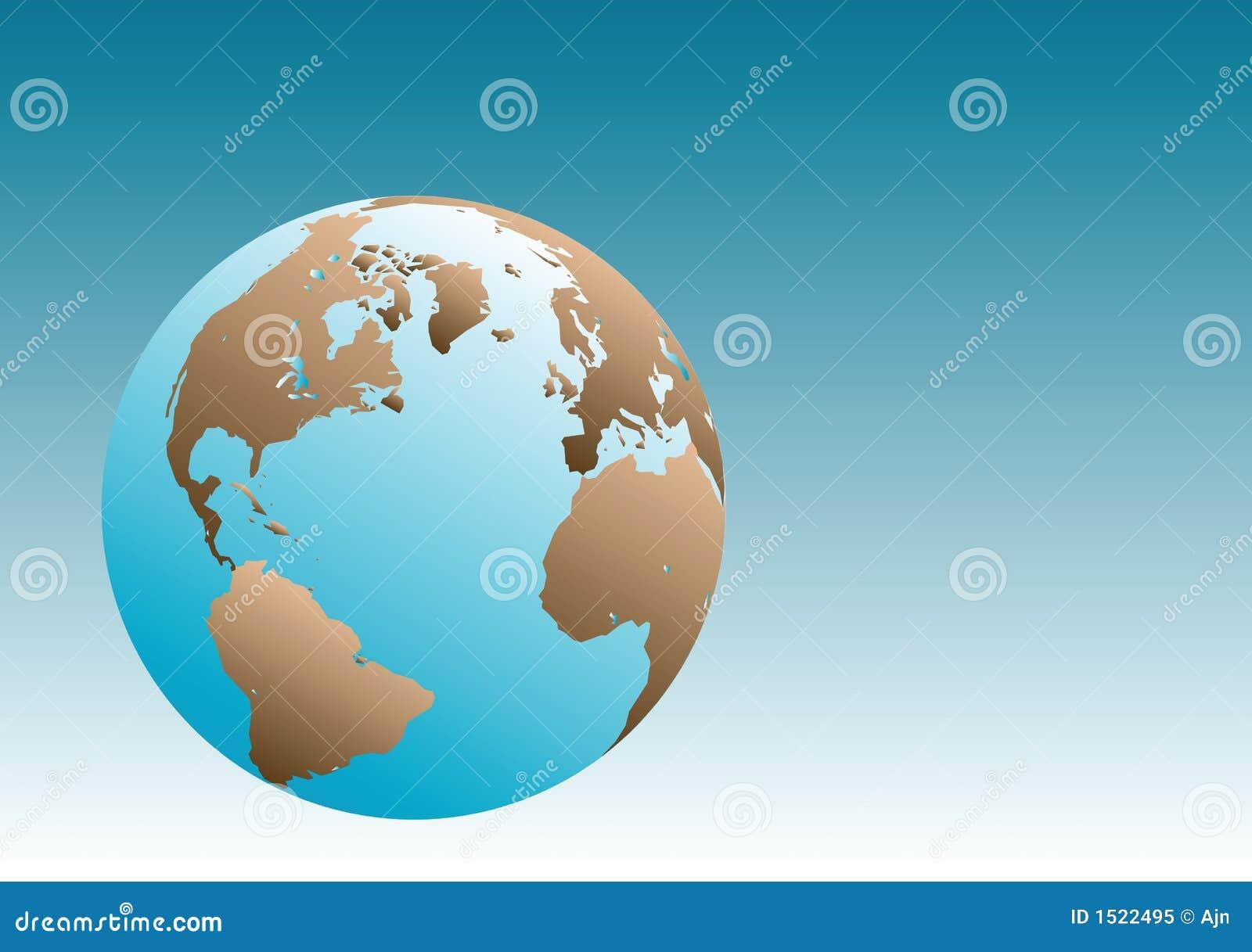 De Illustratie van de Bol van de aarde