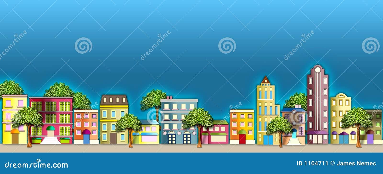 De illustratie van de buurt