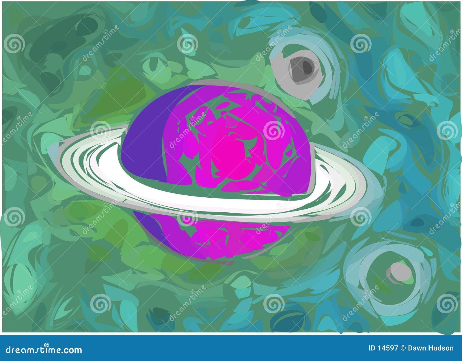 De Illustratie van de planeet