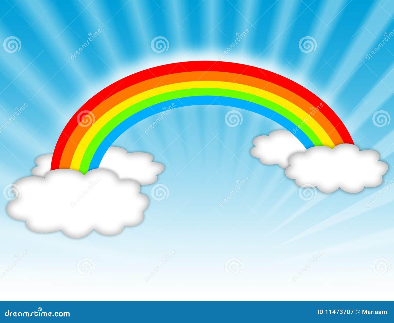 De illustratie van de regenboog