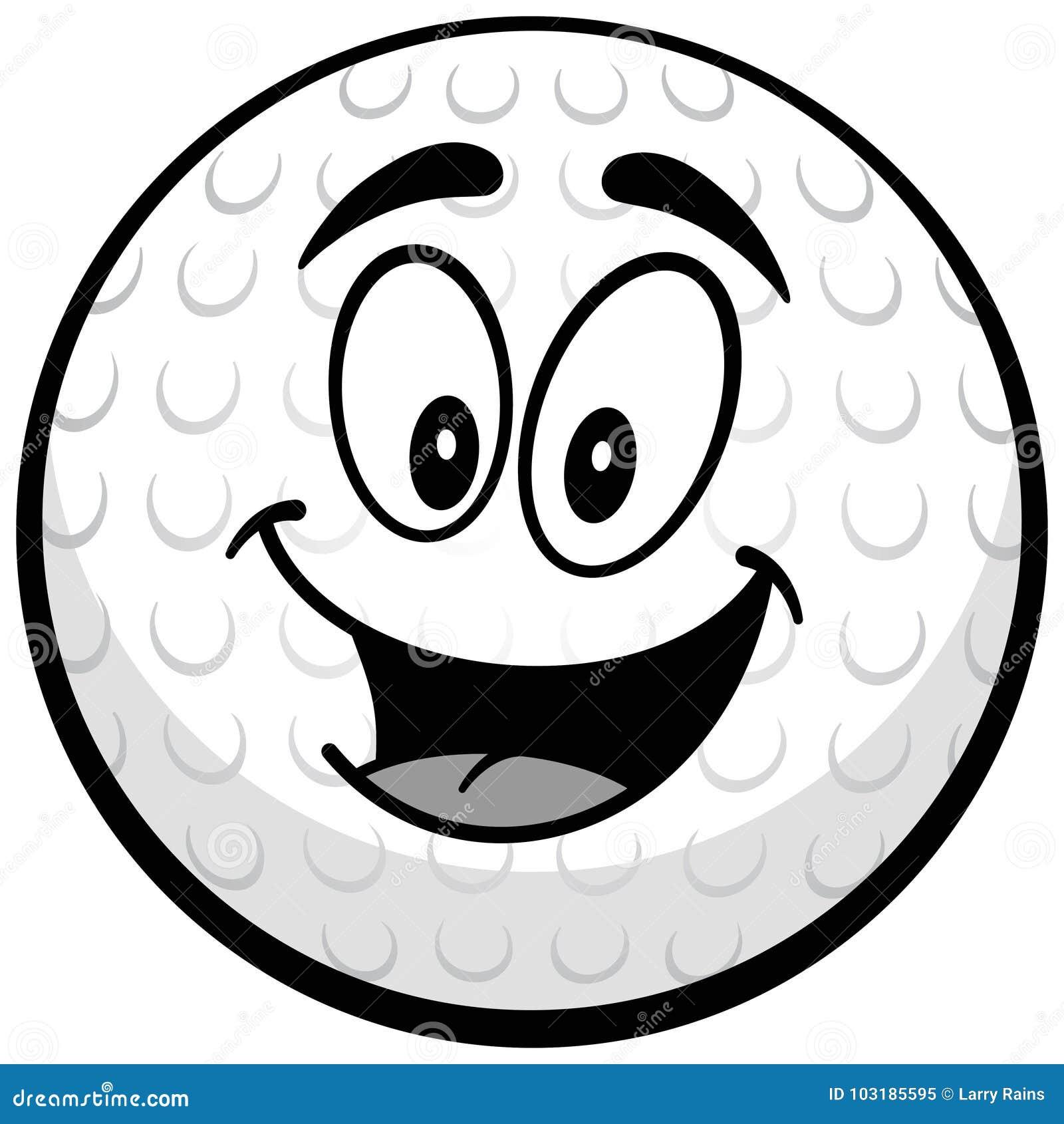 De Illustratie van de golfbalmascotte