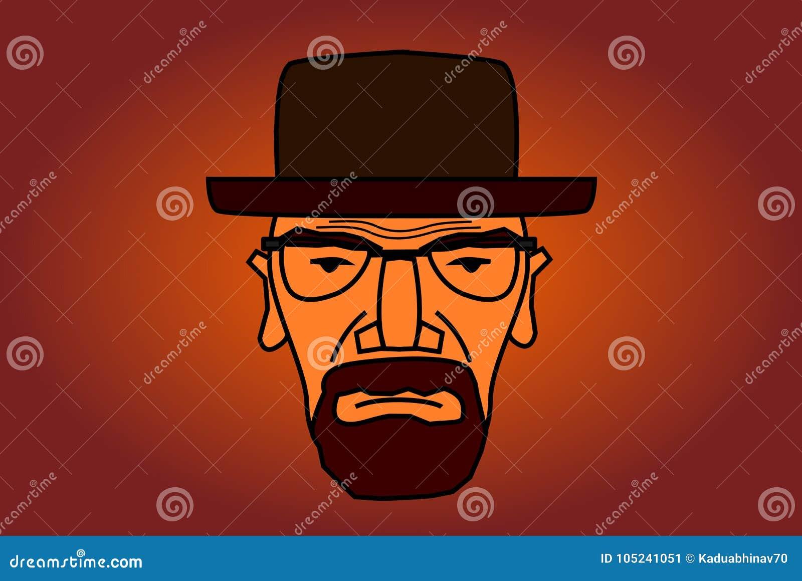 De illustratie van het Heisenbergkarakter