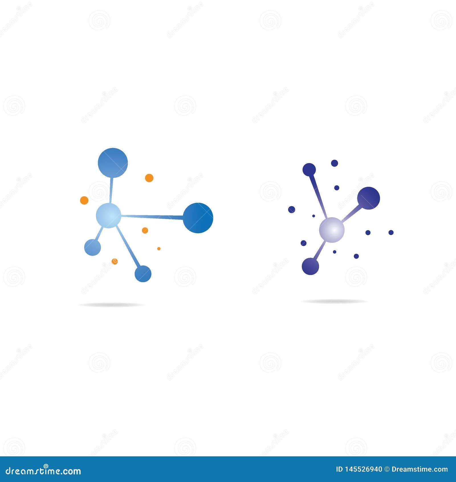 De illustratie van het moleculesymbool