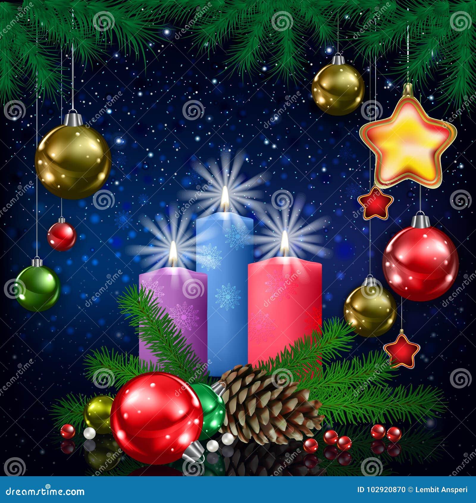 De illustratie van de kerstkaart
