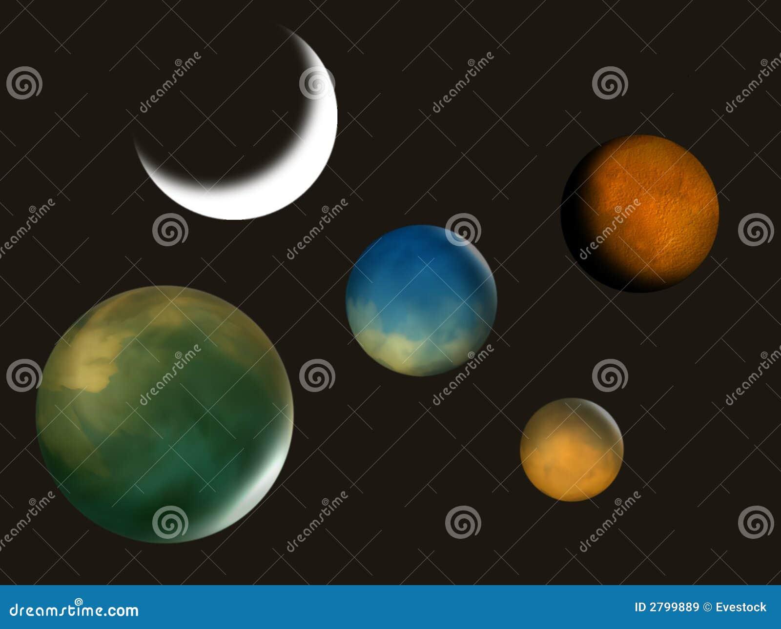 De Illustratie van planeten