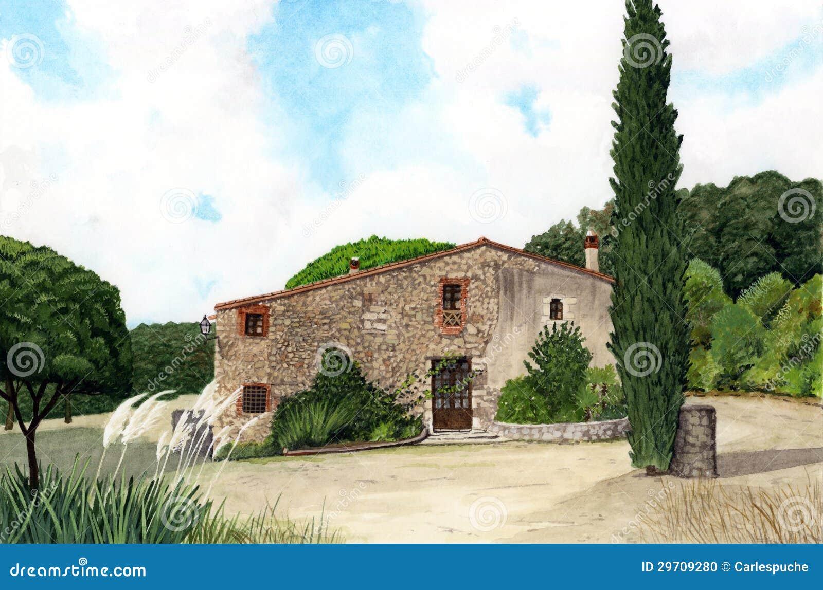 Het huis van de steen stock foto afbeelding 29709280 - Amenager een voorgerecht van het huis ...