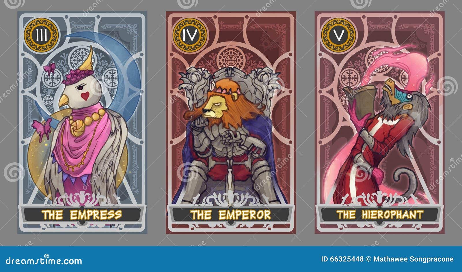 De illustratiereeks van de tarotkaart