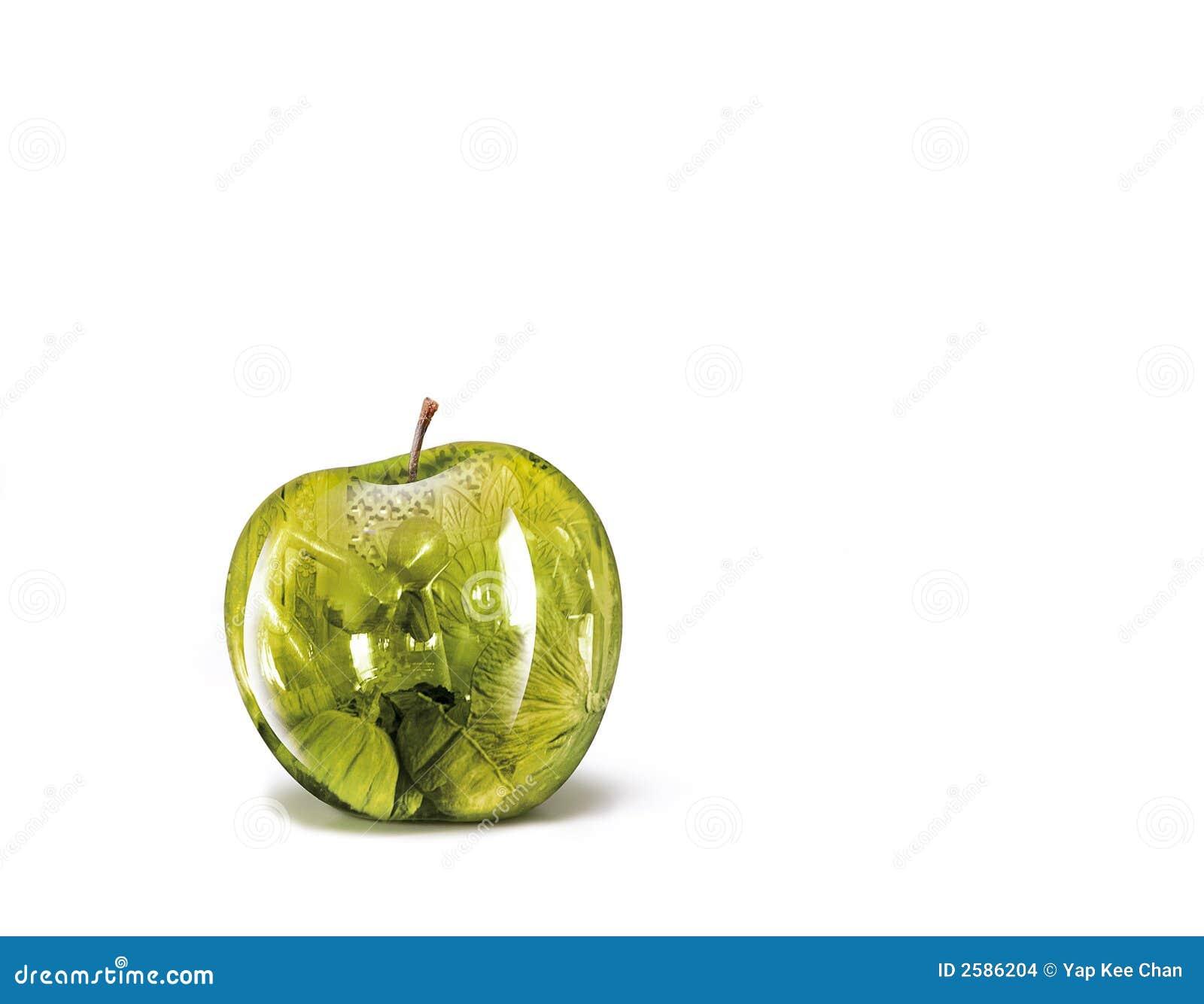 De illustraties van de appel