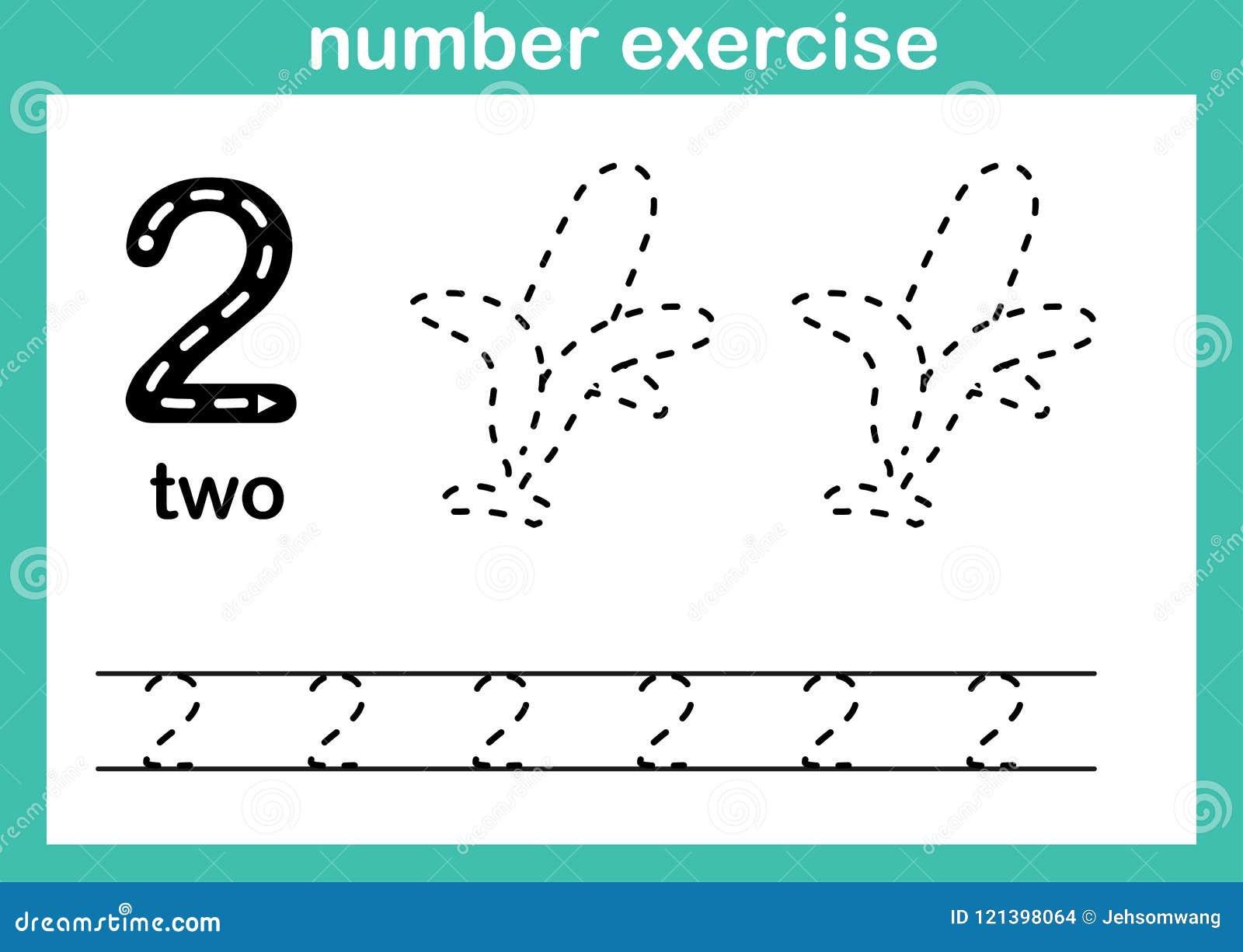 De illustratievector van de aantaloefening