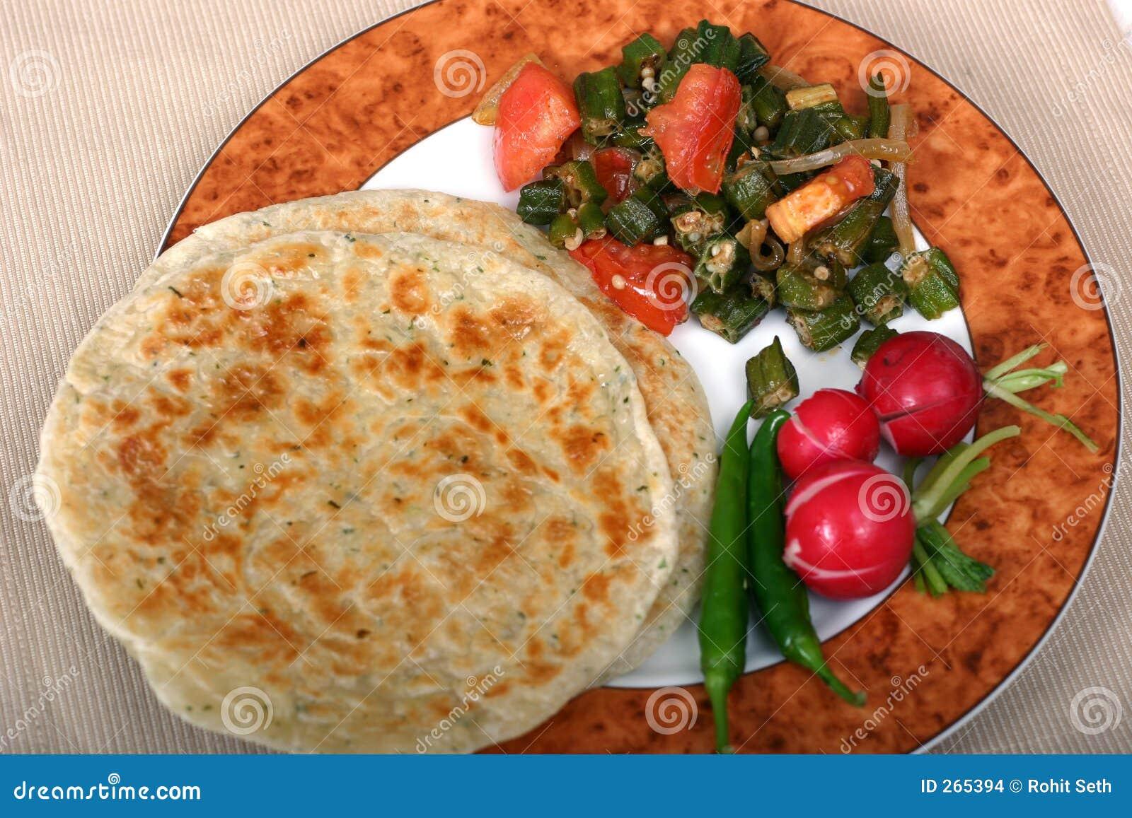 De Indische Reeks van het Voedsel - Vegetarische Maaltijd
