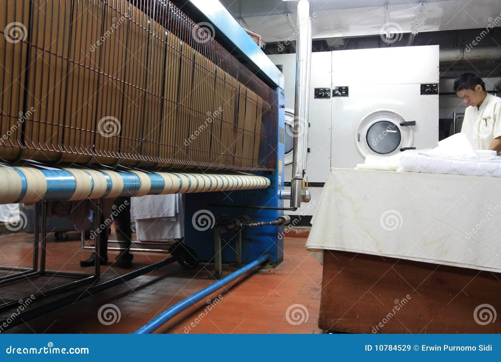 De industrie van de wasserij