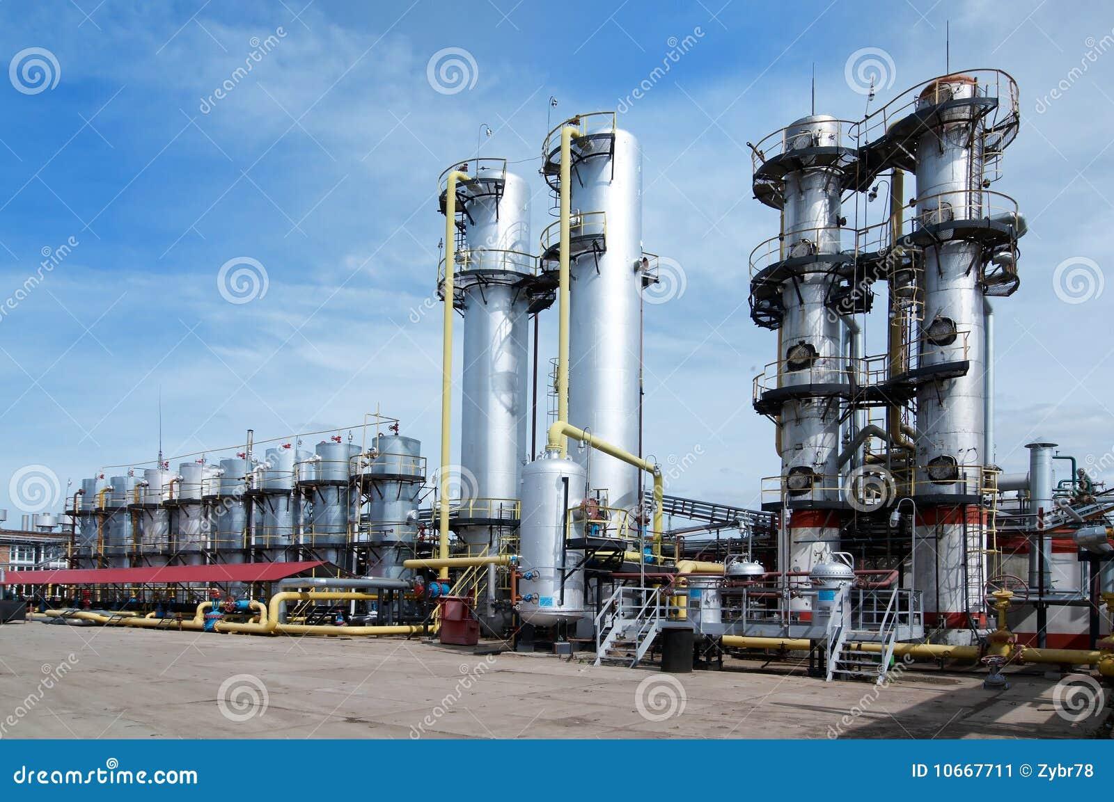 De industrie van het gas
