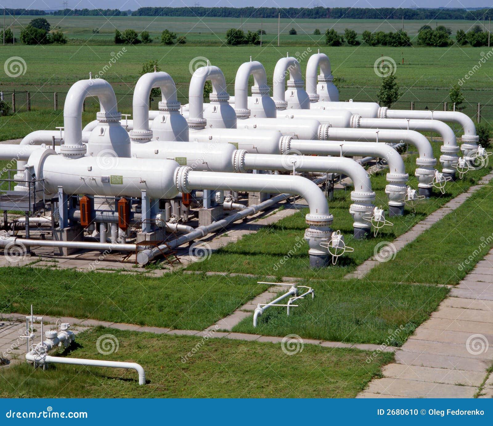 De industrie van het gas en van de Olie