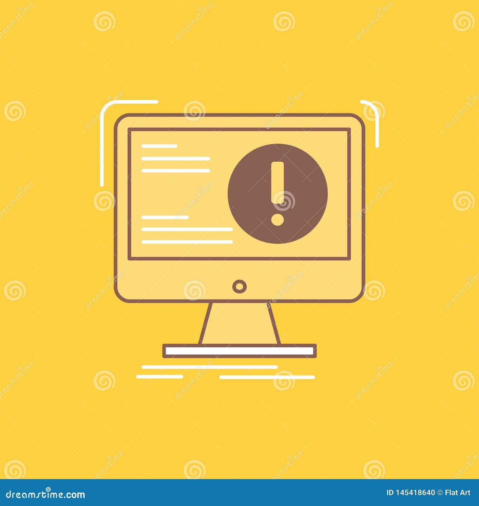 De informatie, inhoud, ontwikkeling, website, Web Vlakke Lijn vulde Pictogram Mooie Embleemknoop over gele achtergrond voor UI en
