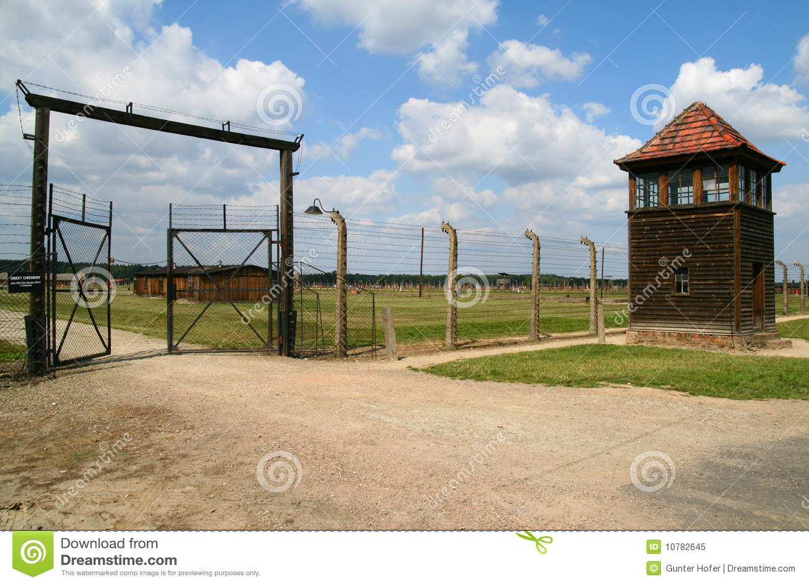 De ingang van Auschwitz