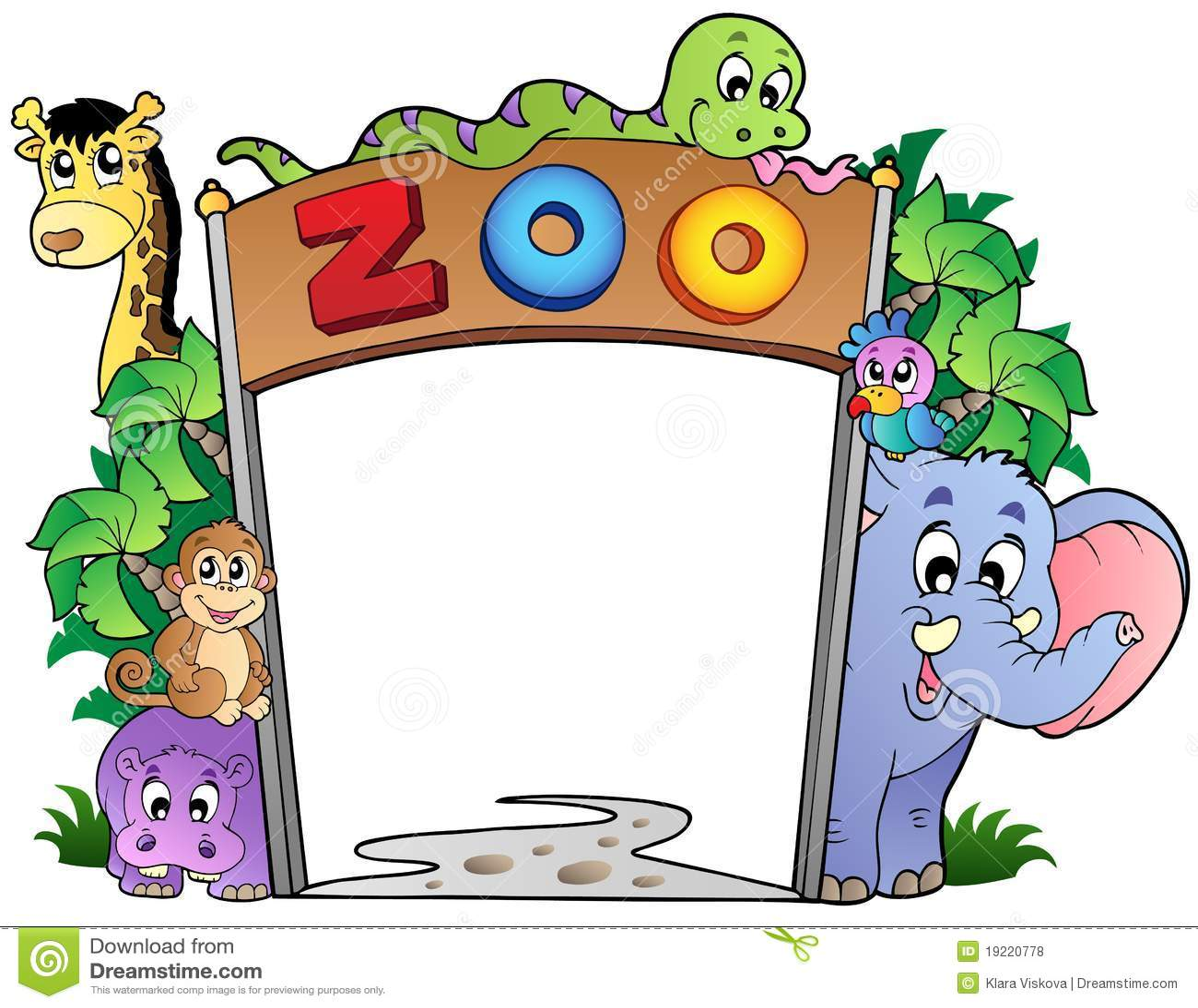 De ingang van de dierentuin met diverse dieren royalty vrije stock foto 39 s afbeelding 19220778 - Ingang van een huis ...
