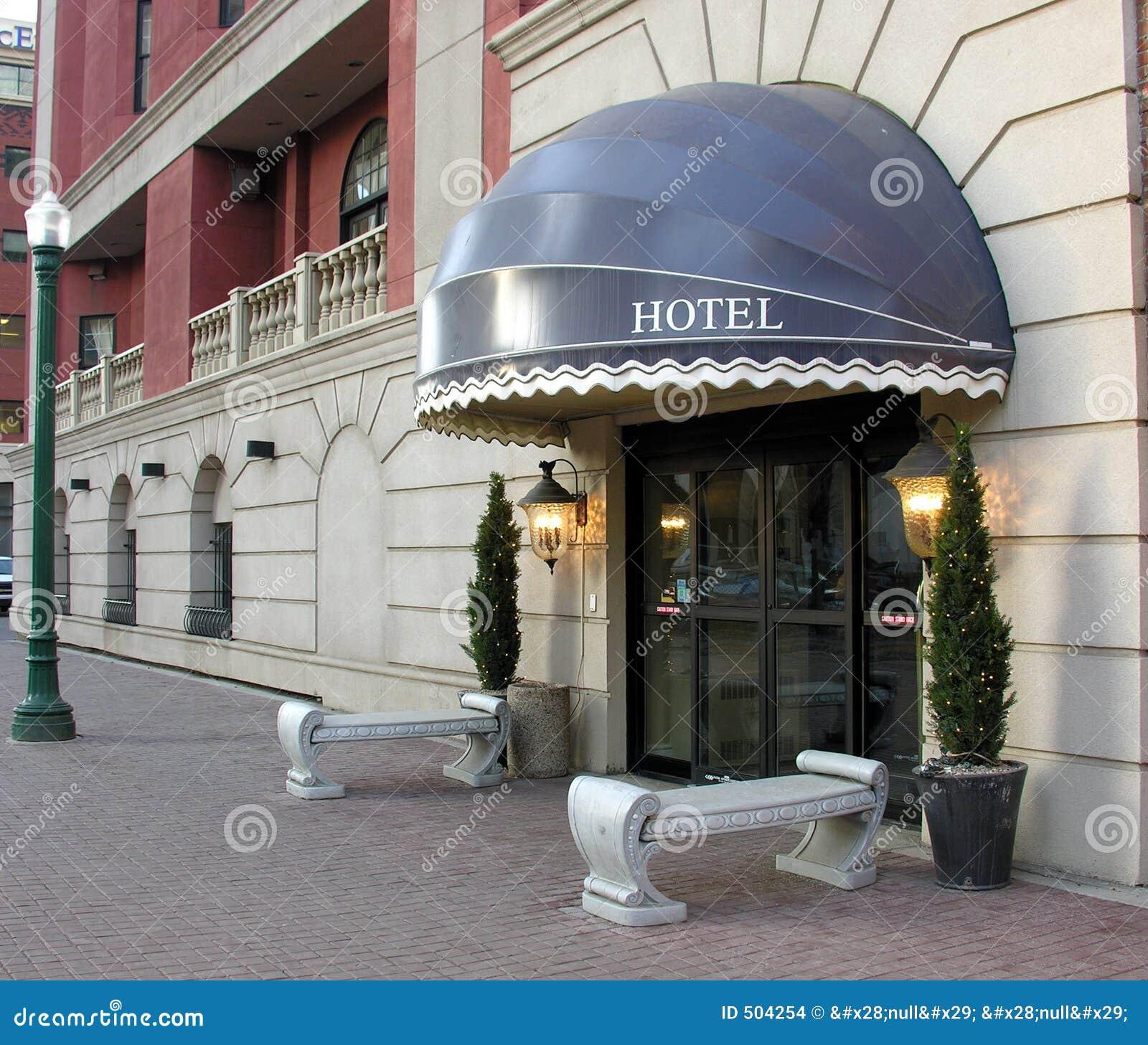 De ingang van het hotel stock foto afbeelding bestaande uit downtown 504254 - Ingang van het hedendaagse huis ...