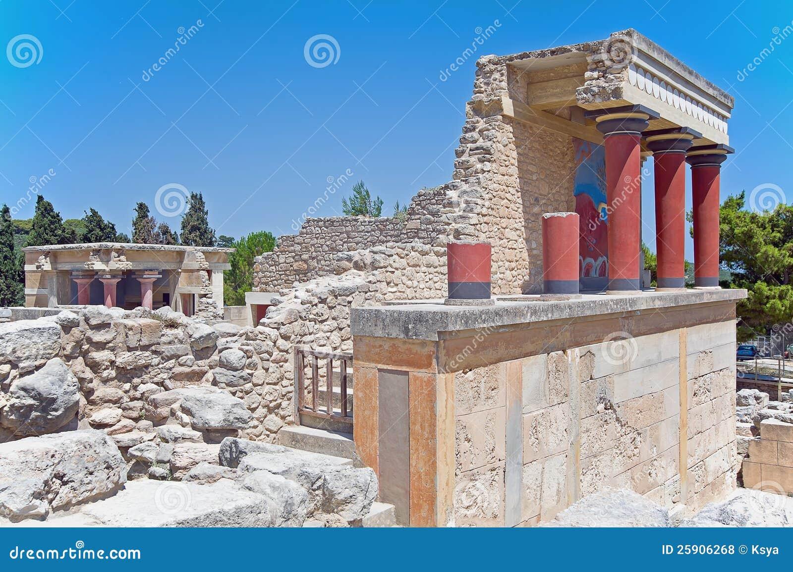 De ingang van het noorden van knossos paleis kreta griekenland stock foto afbeelding 25906268 - Ingang van het hedendaagse huis ...