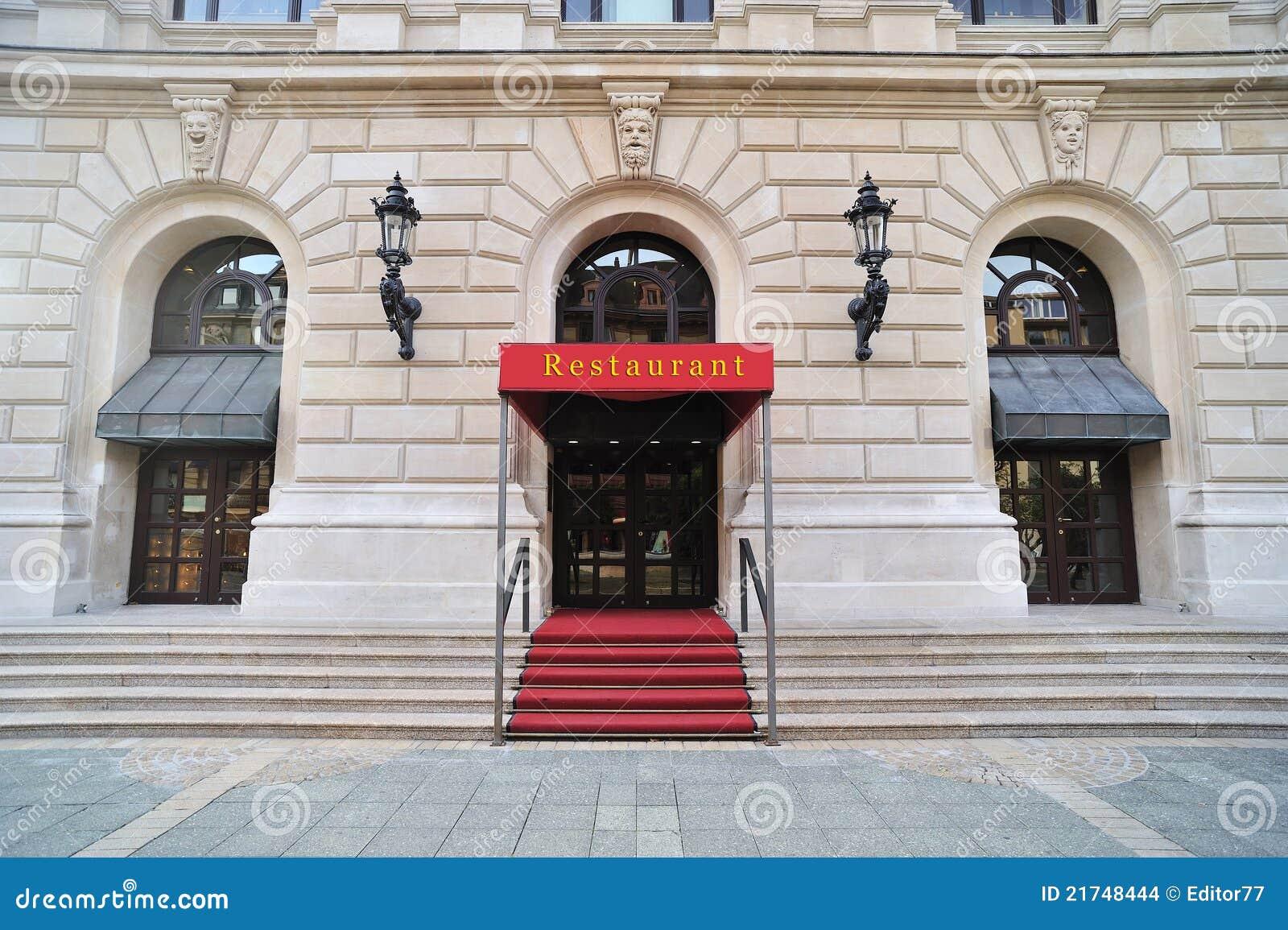 De ingang van het restaurant stock foto afbeelding 21748444 - Ingang van het hedendaagse huis ...