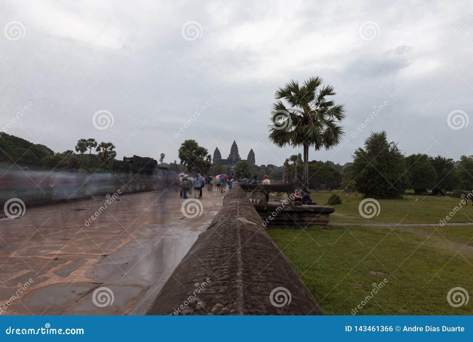 De Ingang van de Tempel van Wat van Angkor