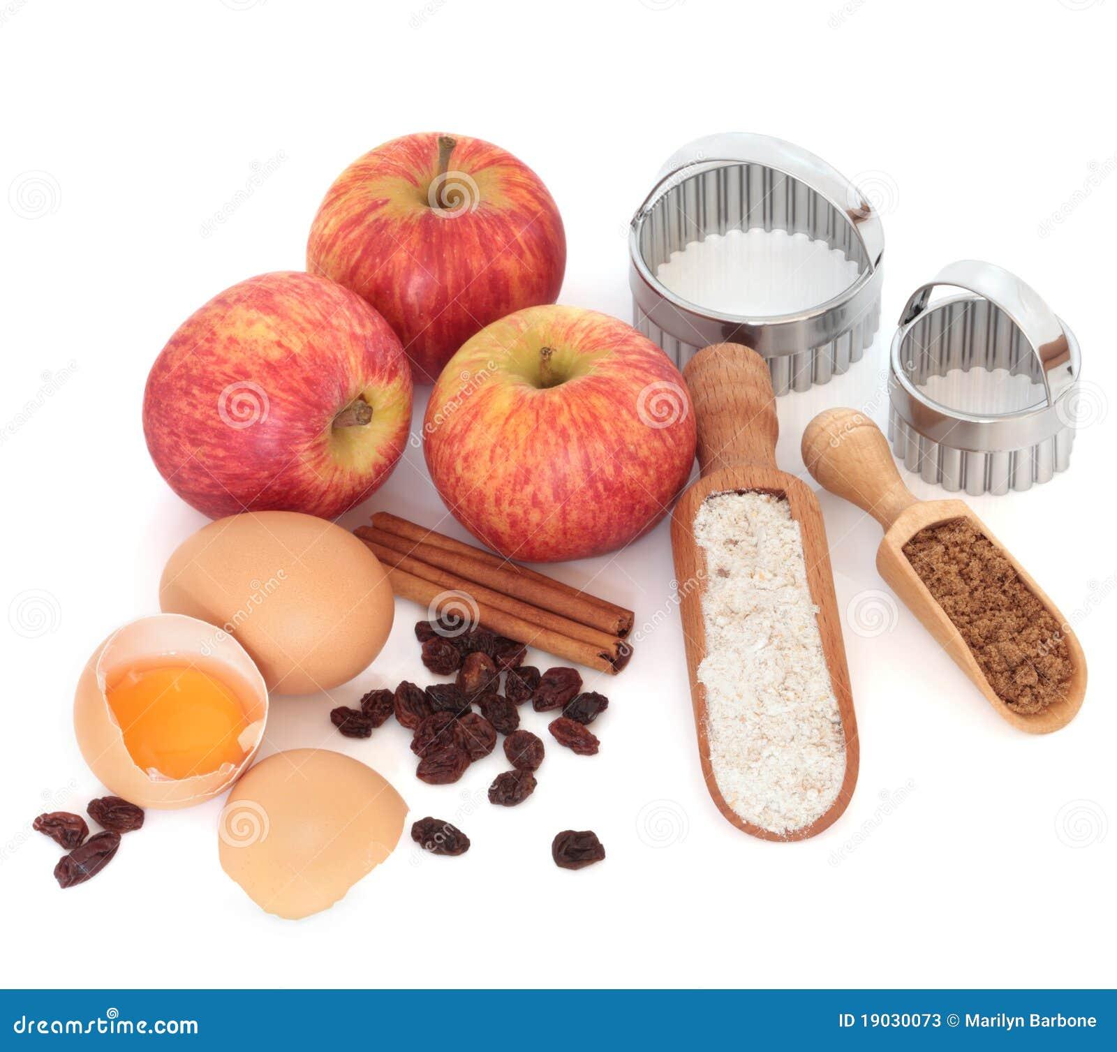De Ingrediënten van de appeltaart