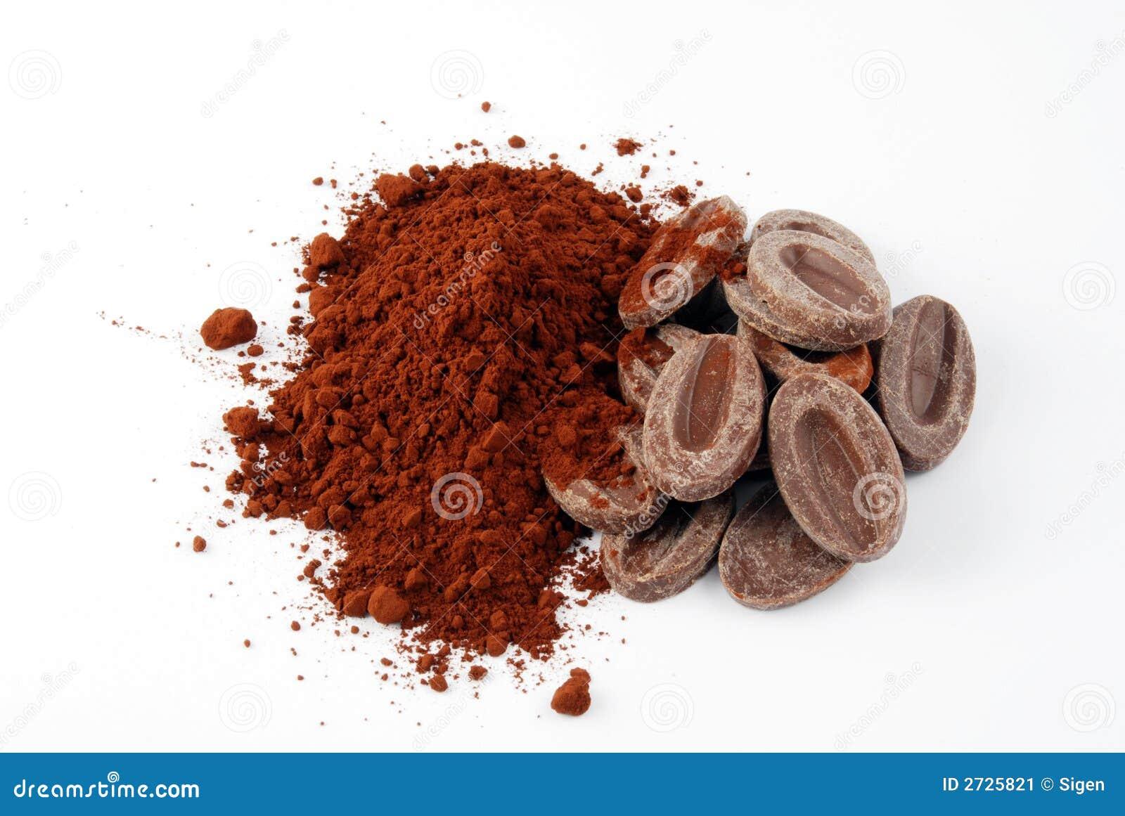 De ingrediënten van de chocolade