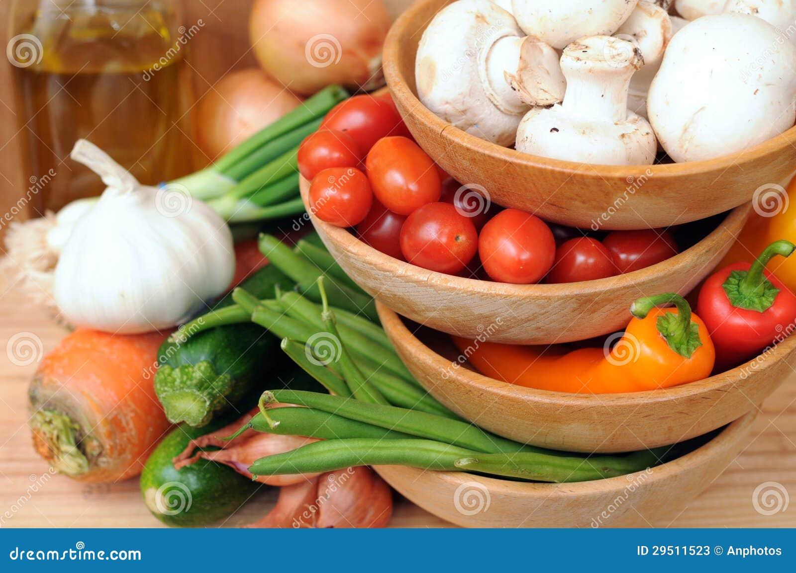 De ingrediënten voor groente bewegen gebraden gerecht