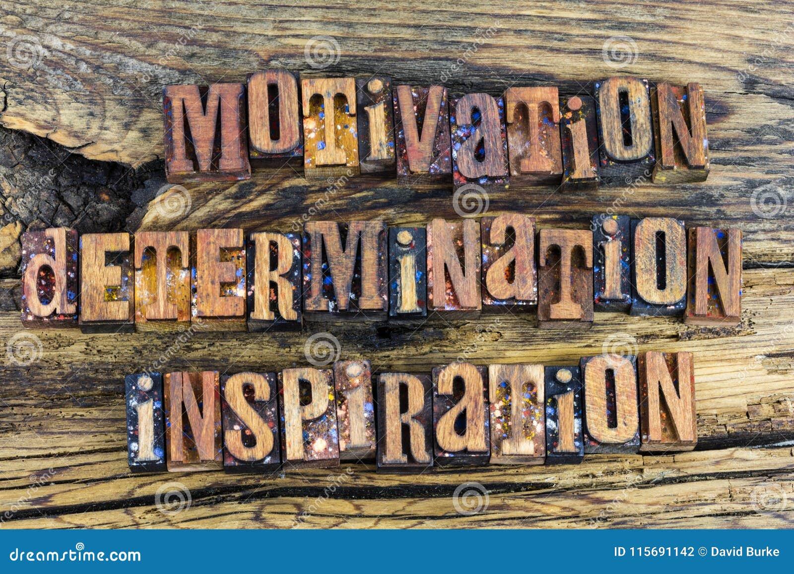 De inspiratieletterzetsel van de motivatiebepaling