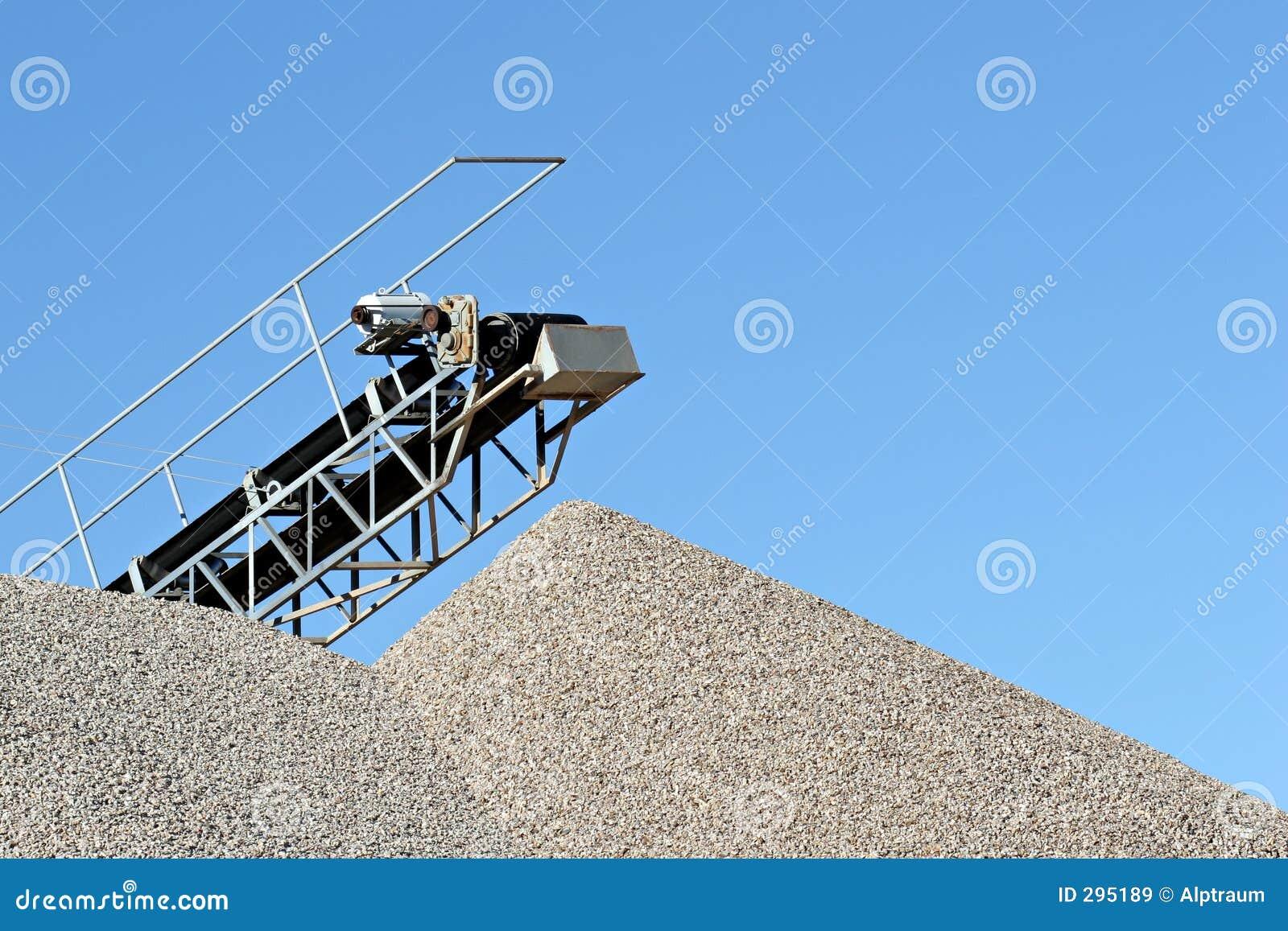 De installatie van het cement